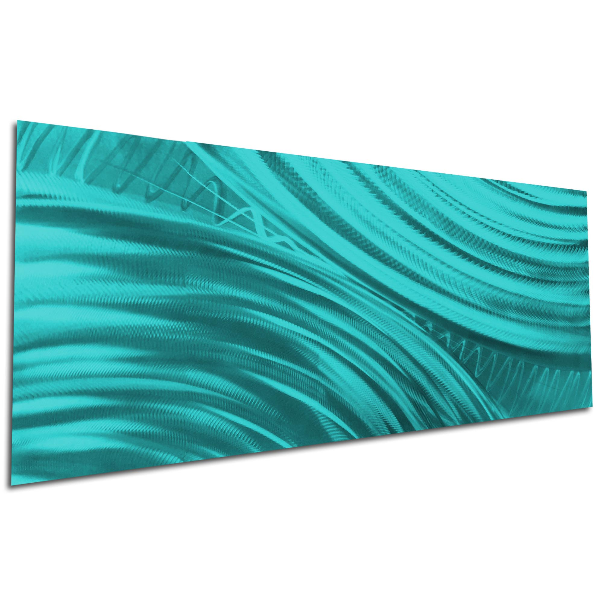 Moment of Impact Teal by Helena Martin - Original Abstract Art on Ground and Painted Metal - Image 3