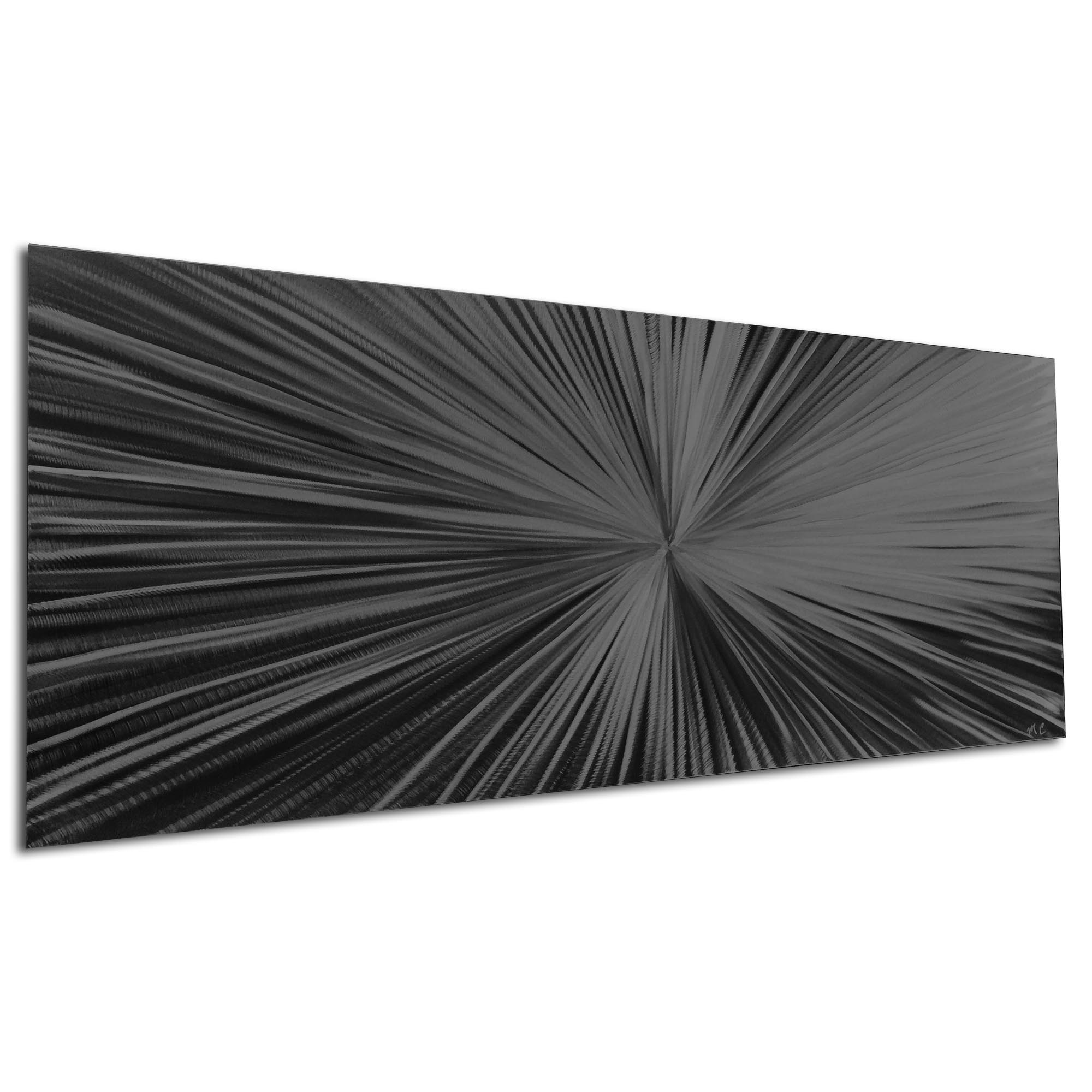 Starburst Black by Helena Martin - Original Abstract Art on Ground and Painted Metal - Image 3