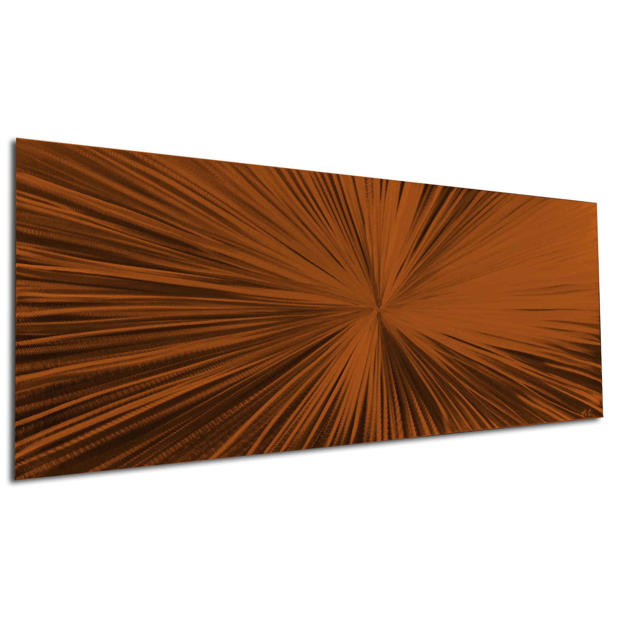 Starburst Brown by Helena Martin - Original Abstract Art on Ground and Painted Metal - Image 3