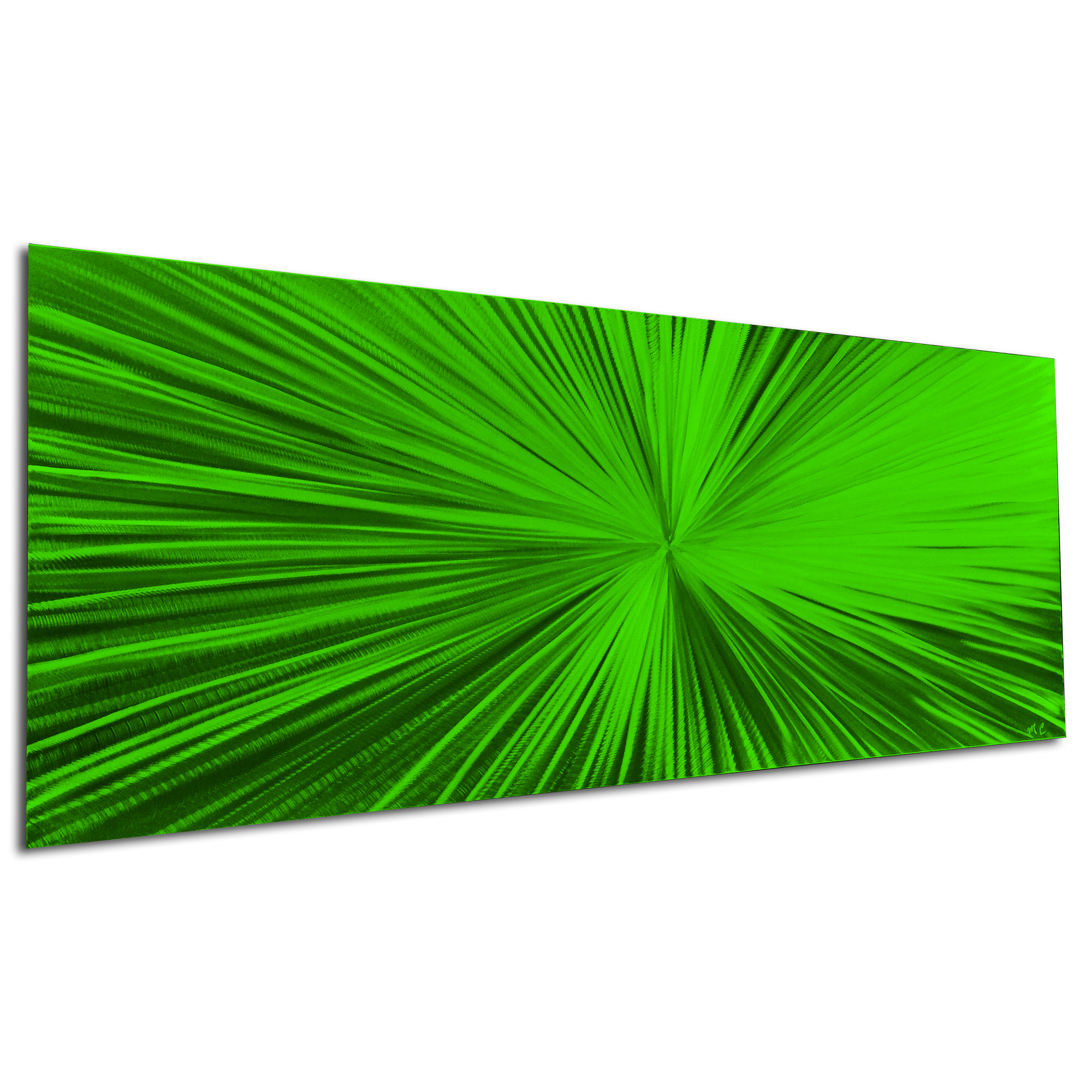 Starburst Green by Helena Martin - Original Abstract Art on Ground and Painted Metal - Image 3