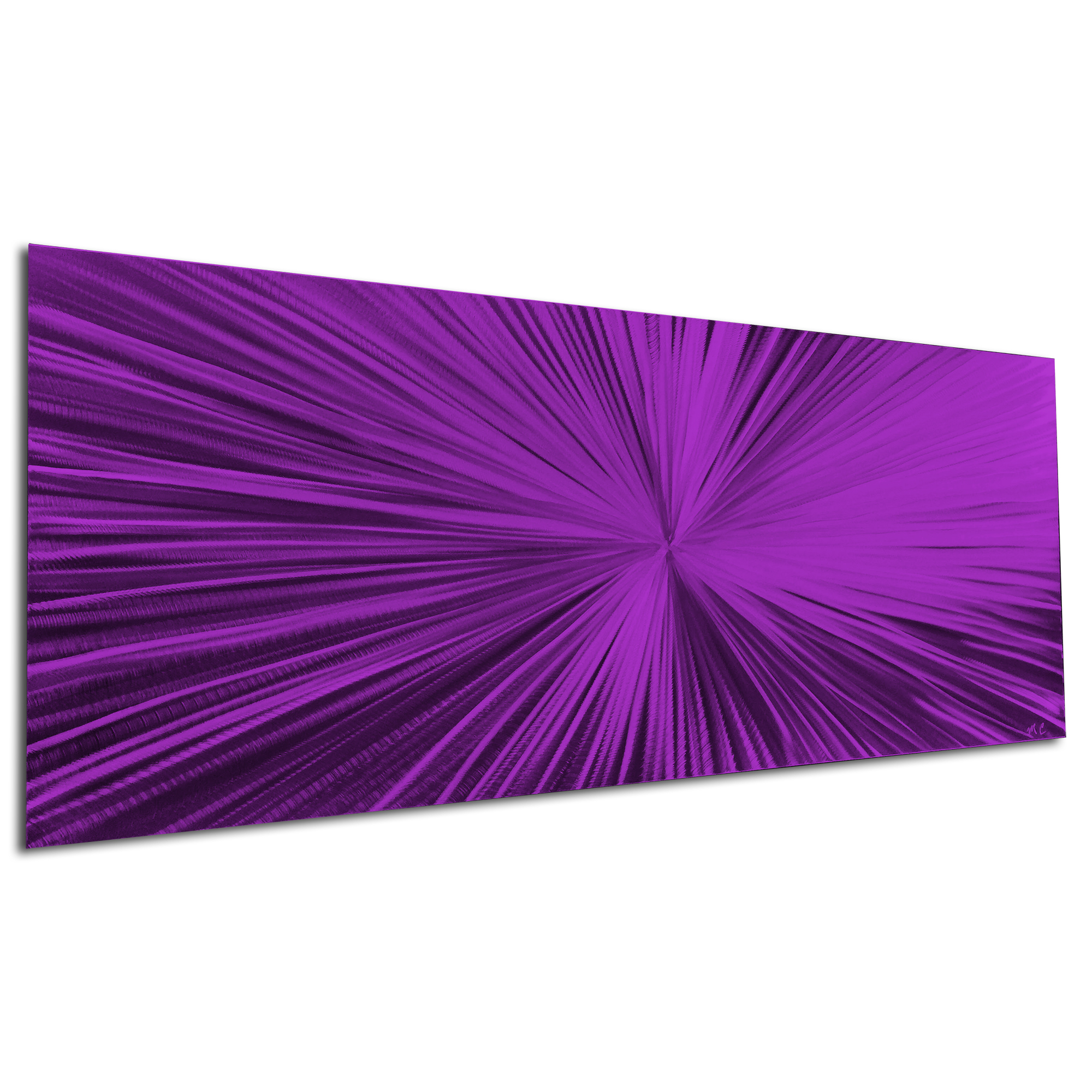 Starburst Purple by Helena Martin - Original Abstract Art on Ground and Painted Metal - Image 3