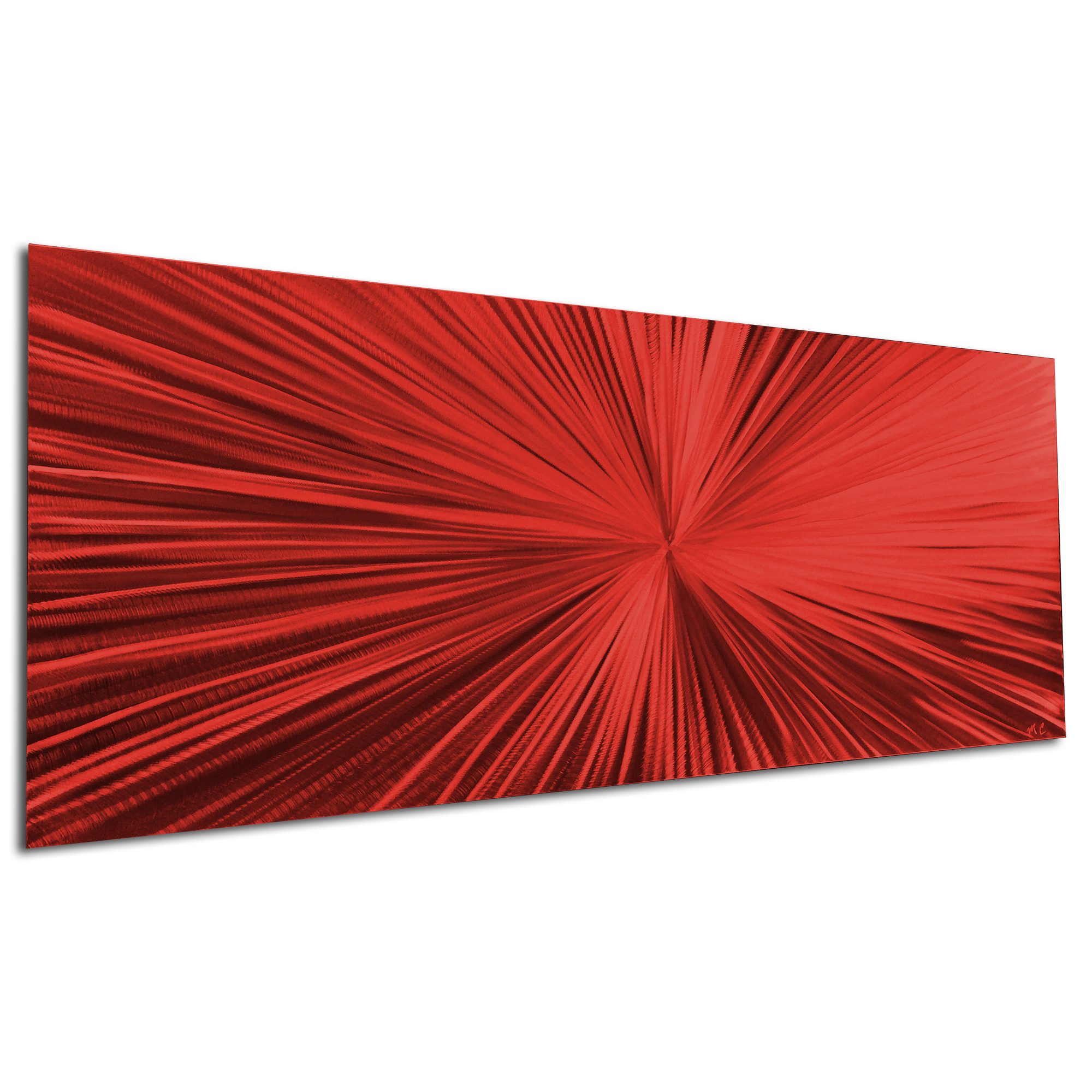 Starburst Red by Helena Martin - Original Abstract Art on Ground and Painted Metal - Image 3