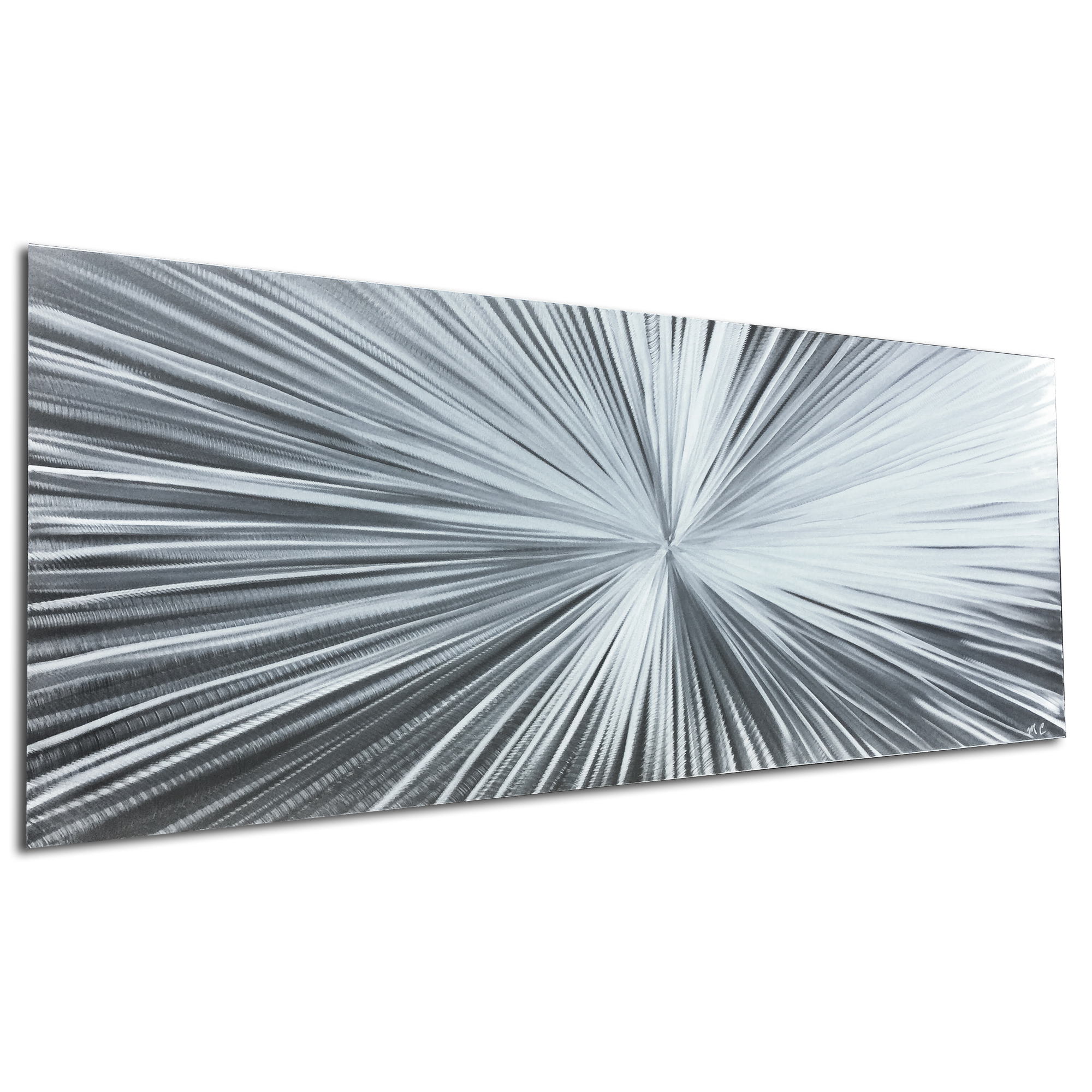 Starburst Silver by Helena Martin - Original Abstract Art on Ground Metal - Image 3