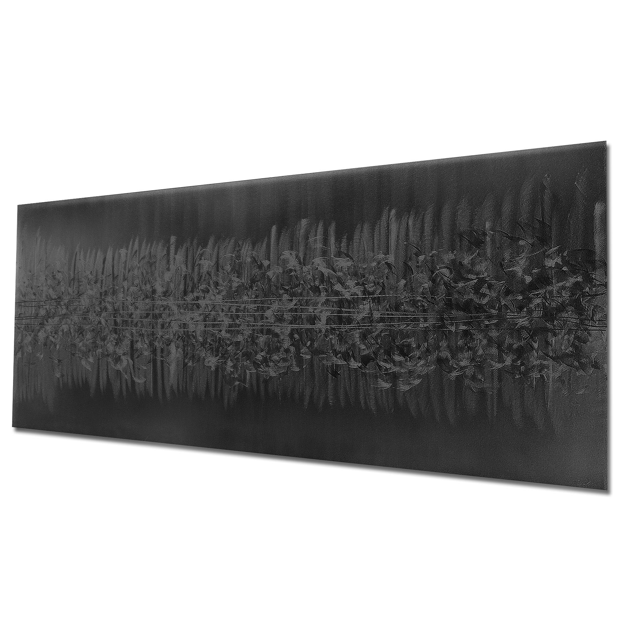 Static Black by Helena Martin - Original Abstract Art on Ground and Painted Metal - Image 3