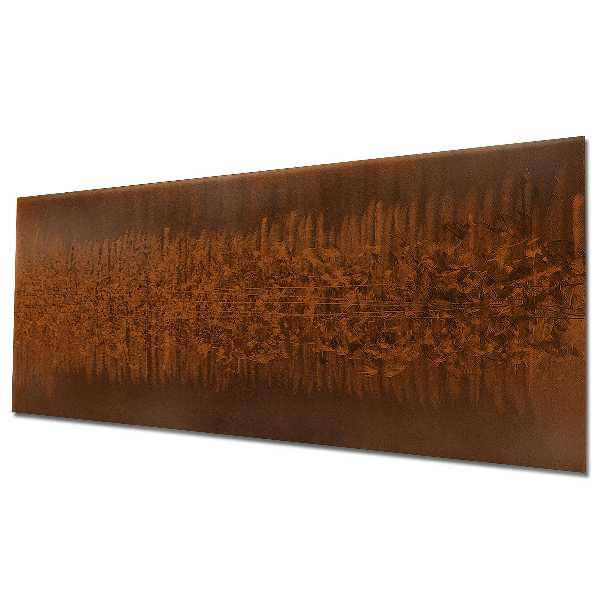 Static Brown by Helena Martin - Original Abstract Art on Ground and Painted Metal - Image 3