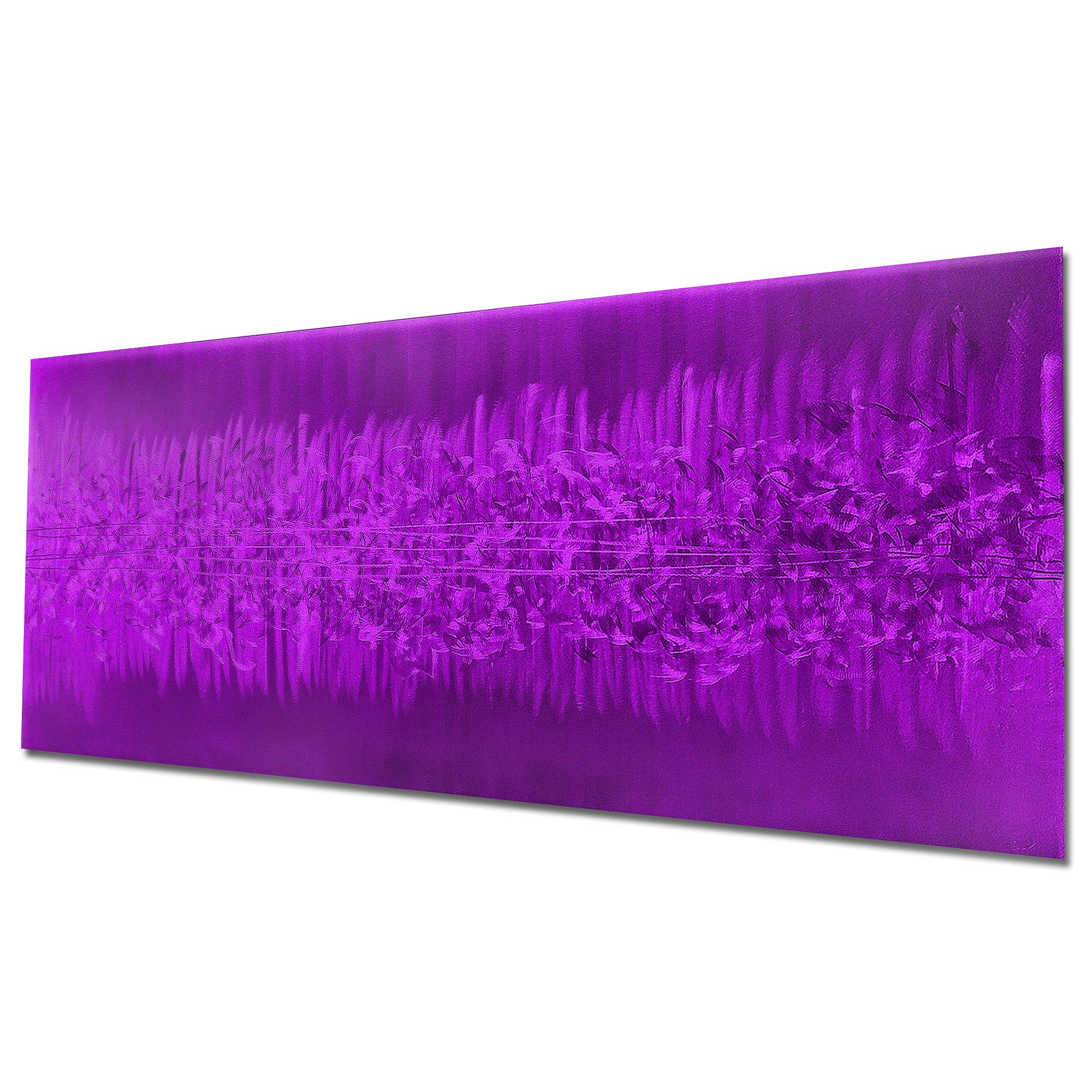 Static Purple by Helena Martin - Original Abstract Art on Ground and Painted Metal - Image 3