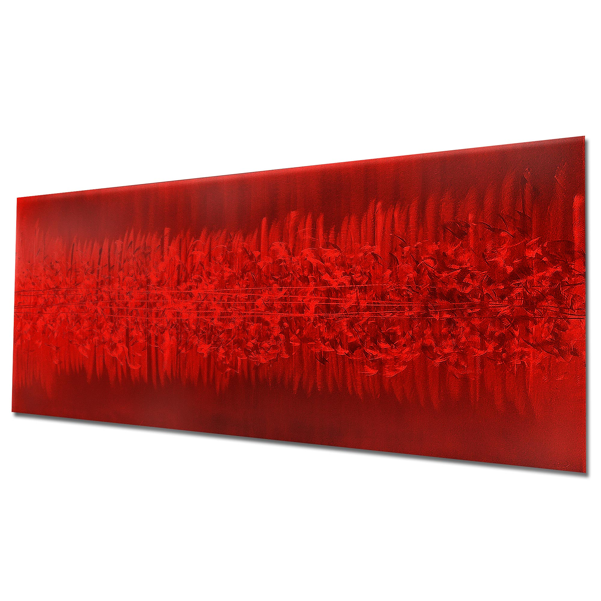 Static Red by Helena Martin - Original Abstract Art on Ground and Painted Metal - Image 3