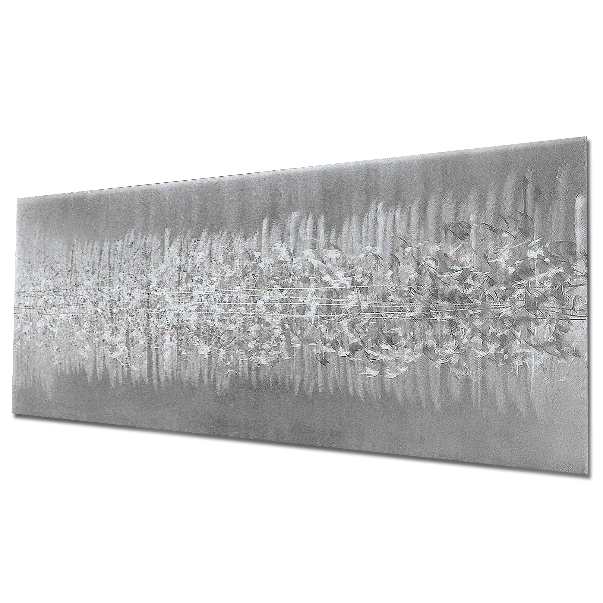 Static Silver by Helena Martin - Original Abstract Art on Ground Metal - Image 3
