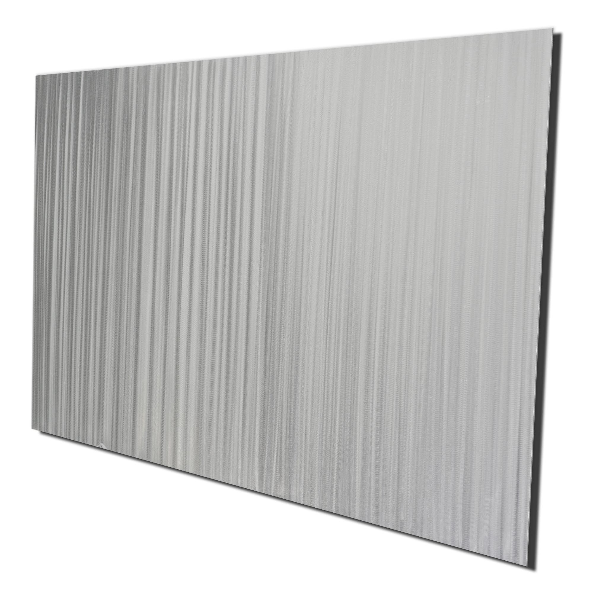 Silver Lines by Helena Martin - Original Abstract Metal Art on Ground Metal - Image 2