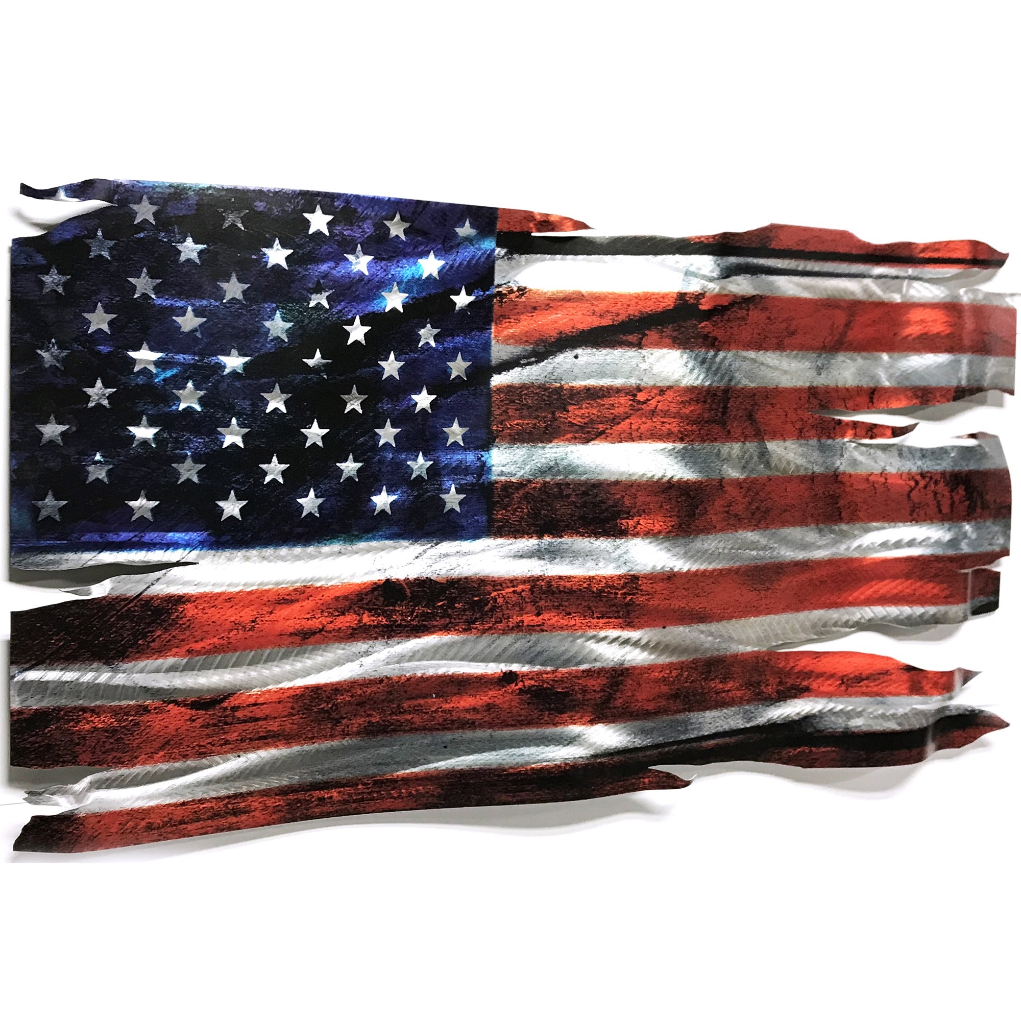 Tattered Glory by Helena Martin | Patriotic Metal Wall Sculpture - HM1776