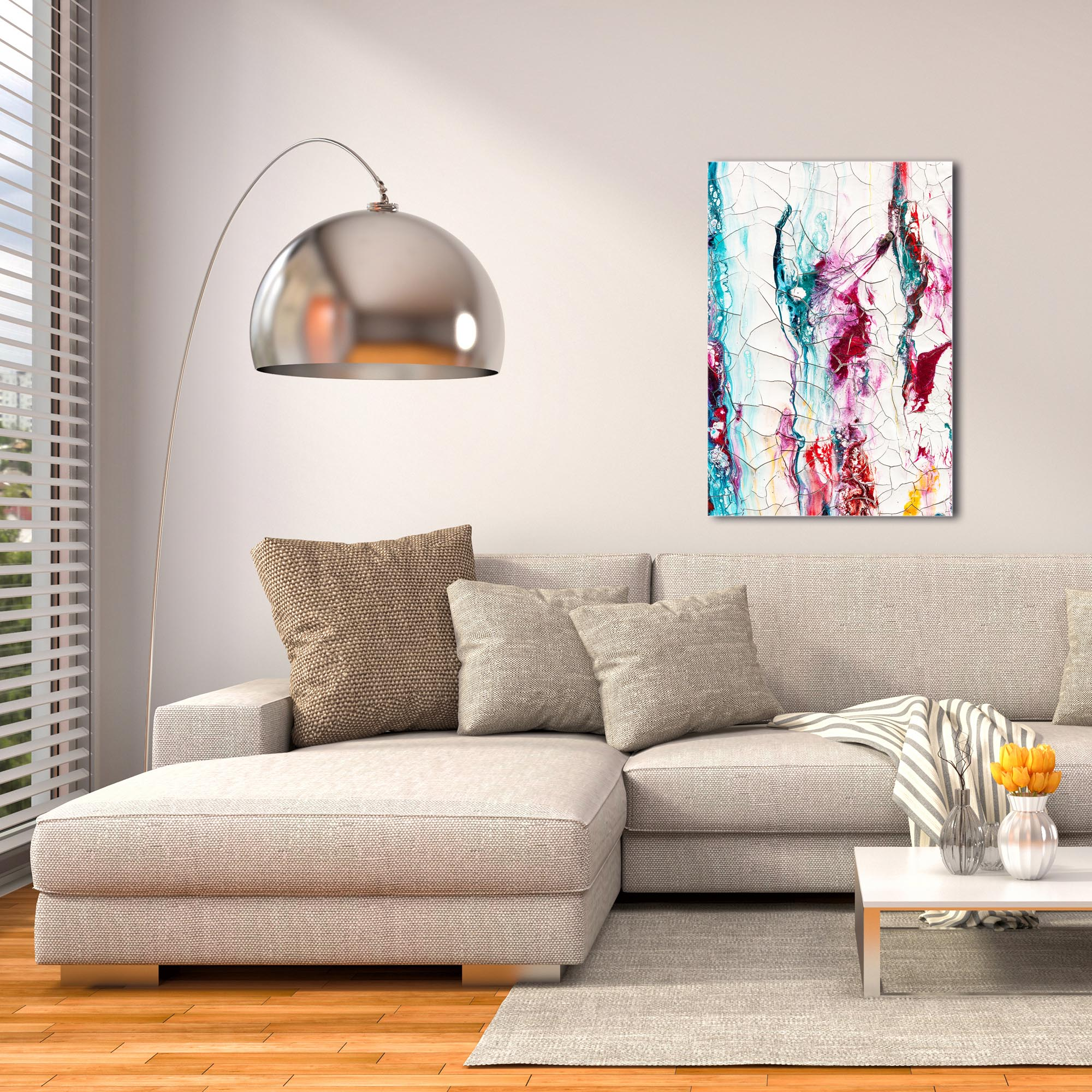 Abstract Wall Art 'Collateral Damage 3' - Colorful Urban Decor on Metal or Plexiglass - Image 3