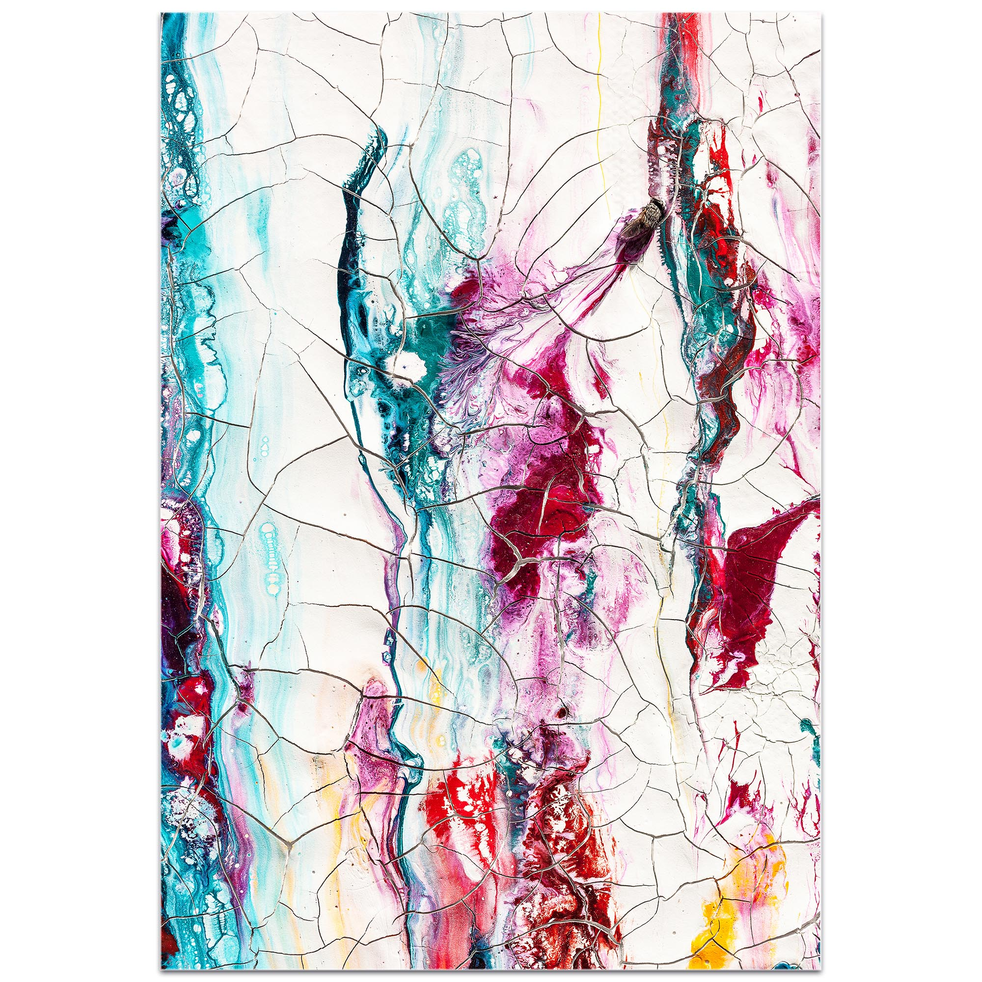 Abstract Wall Art 'Collateral Damage 3' - Colorful Urban Decor on Metal or Plexiglass - Image 2