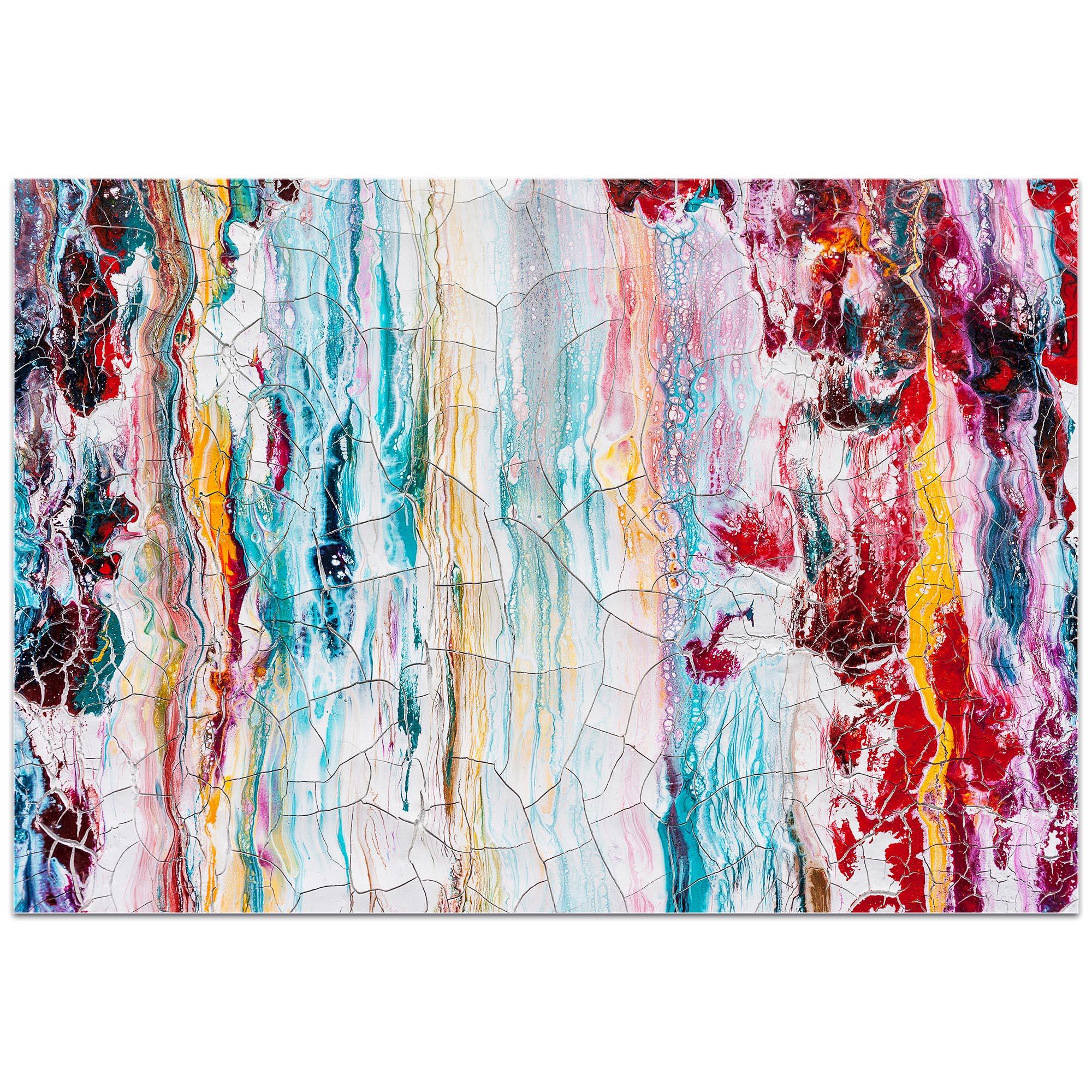 Abstract Wall Art 'Cracks 1' - Urban Decor on Metal or Plexiglass - Image 2