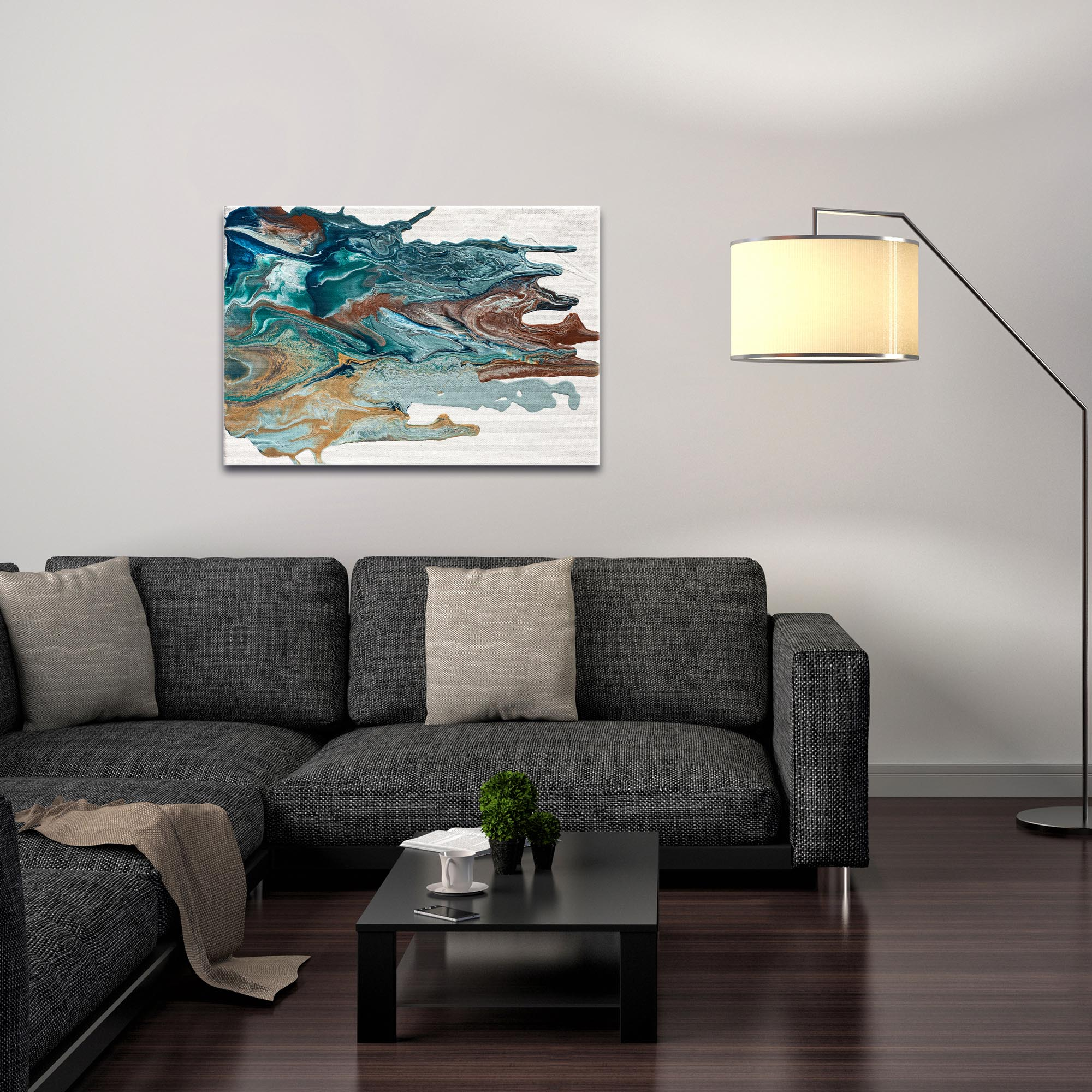 Abstract Wall Art 'Earth 1' - Urban Splatter Decor on Metal or Plexiglass - Image 3