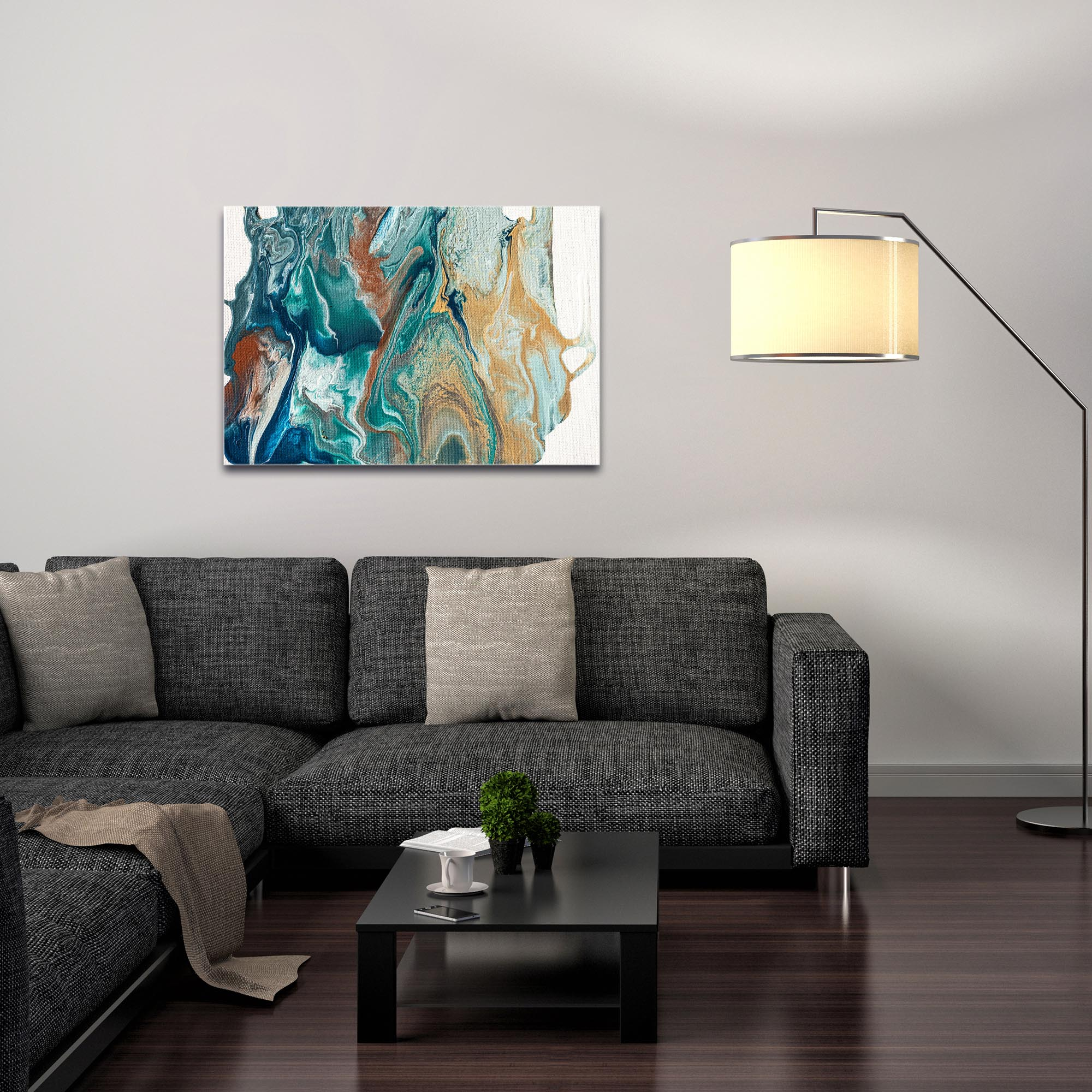 Abstract Wall Art 'Earth 2' - Urban Splatter Decor on Metal or Plexiglass - Image 3
