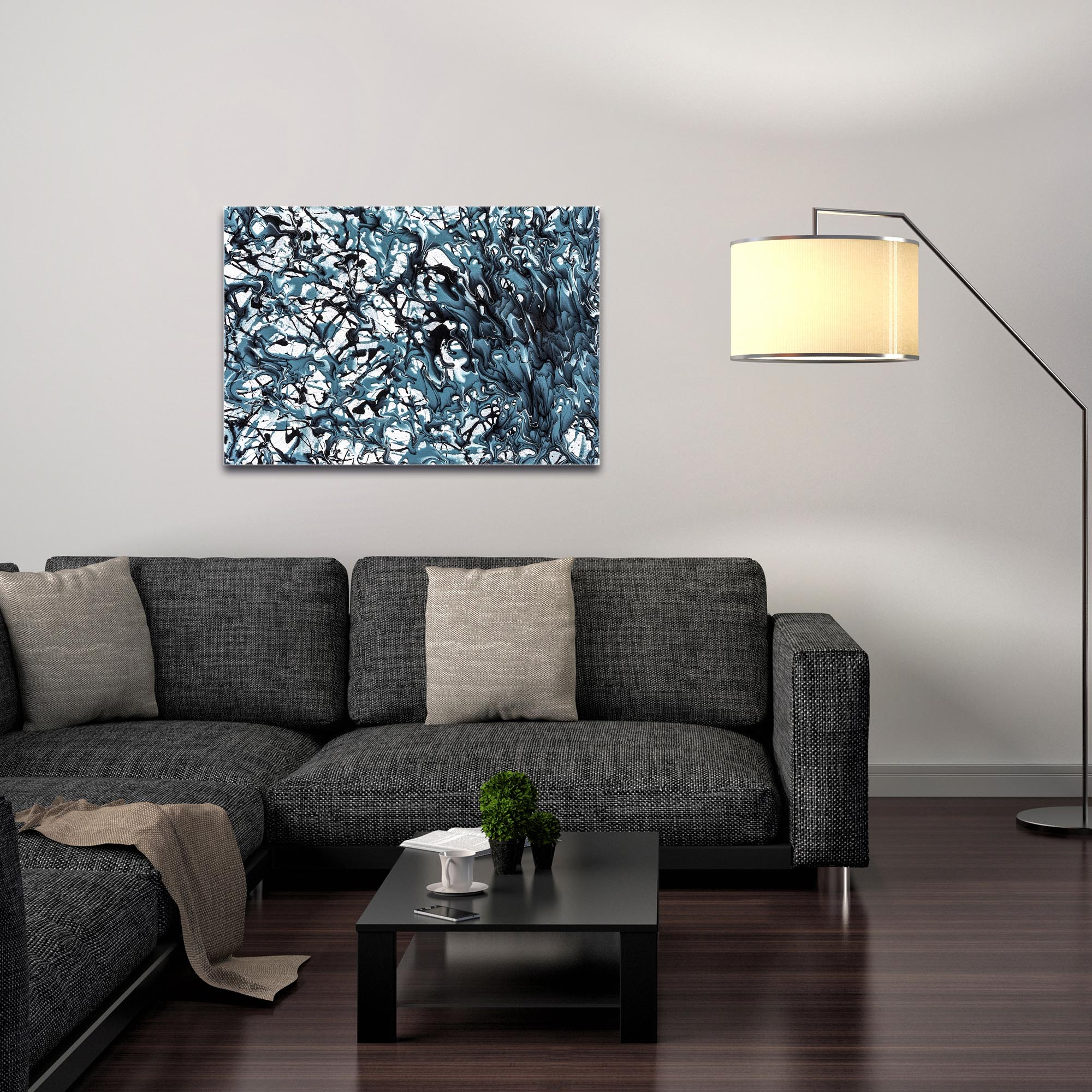 Abstract Wall Art 'Days of Grey 5' - Colorful Urban Decor on Metal or Plexiglass - Image 3