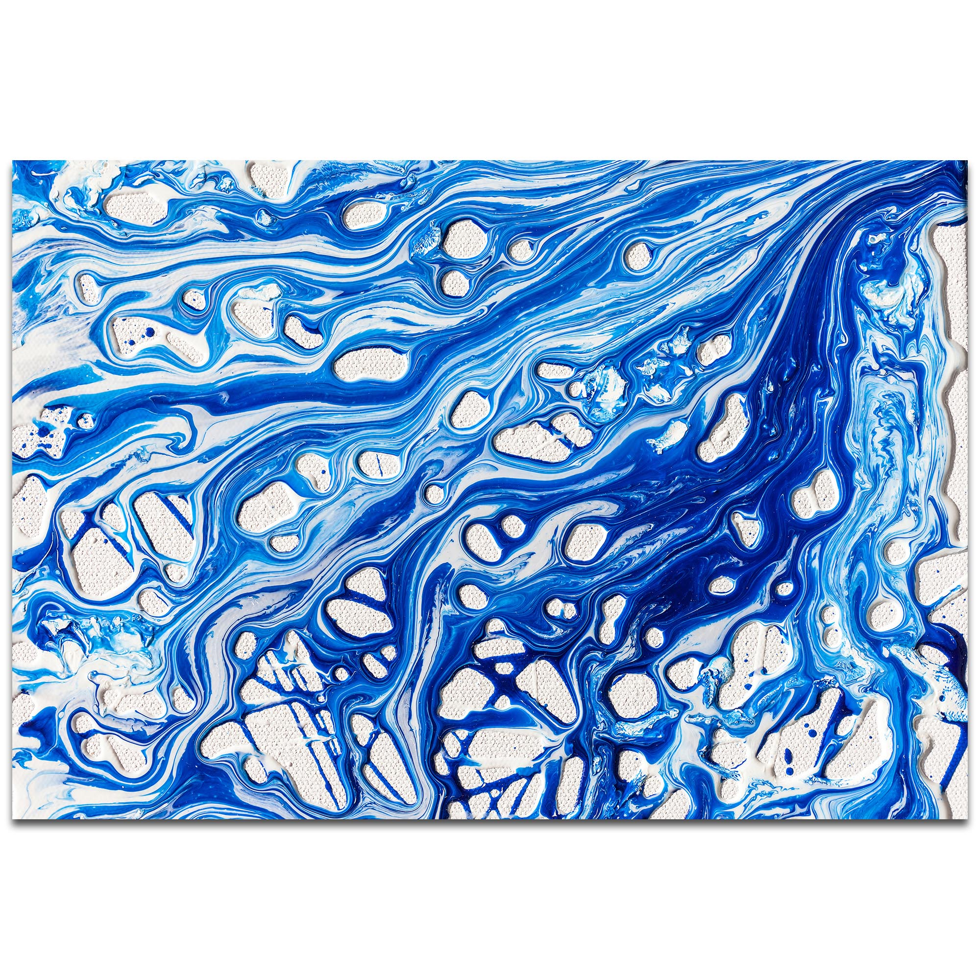 Abstract Wall Art 'Coastal Waters 2' - Colorful Urban Decor on Metal or Plexiglass