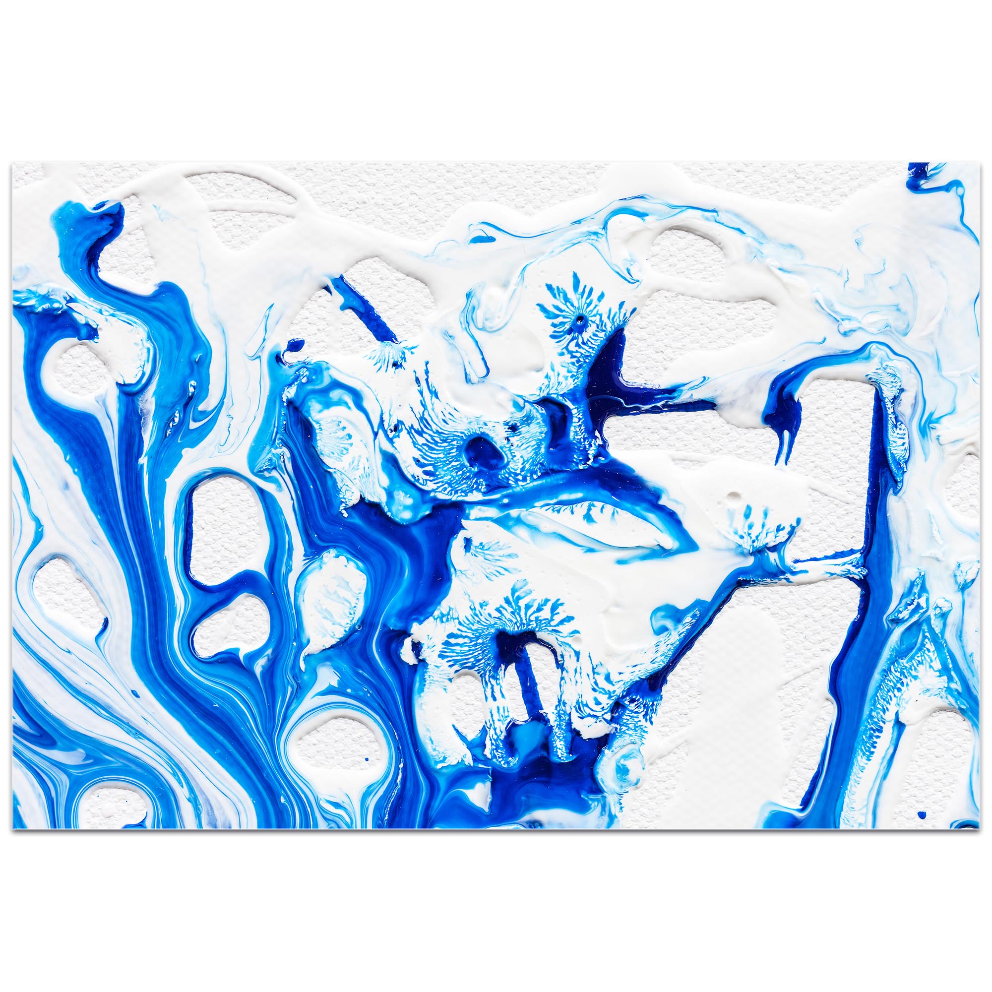 Abstract Wall Art 'Coastal Waters 3' - Colorful Urban Decor on Metal or Plexiglass - Image 2