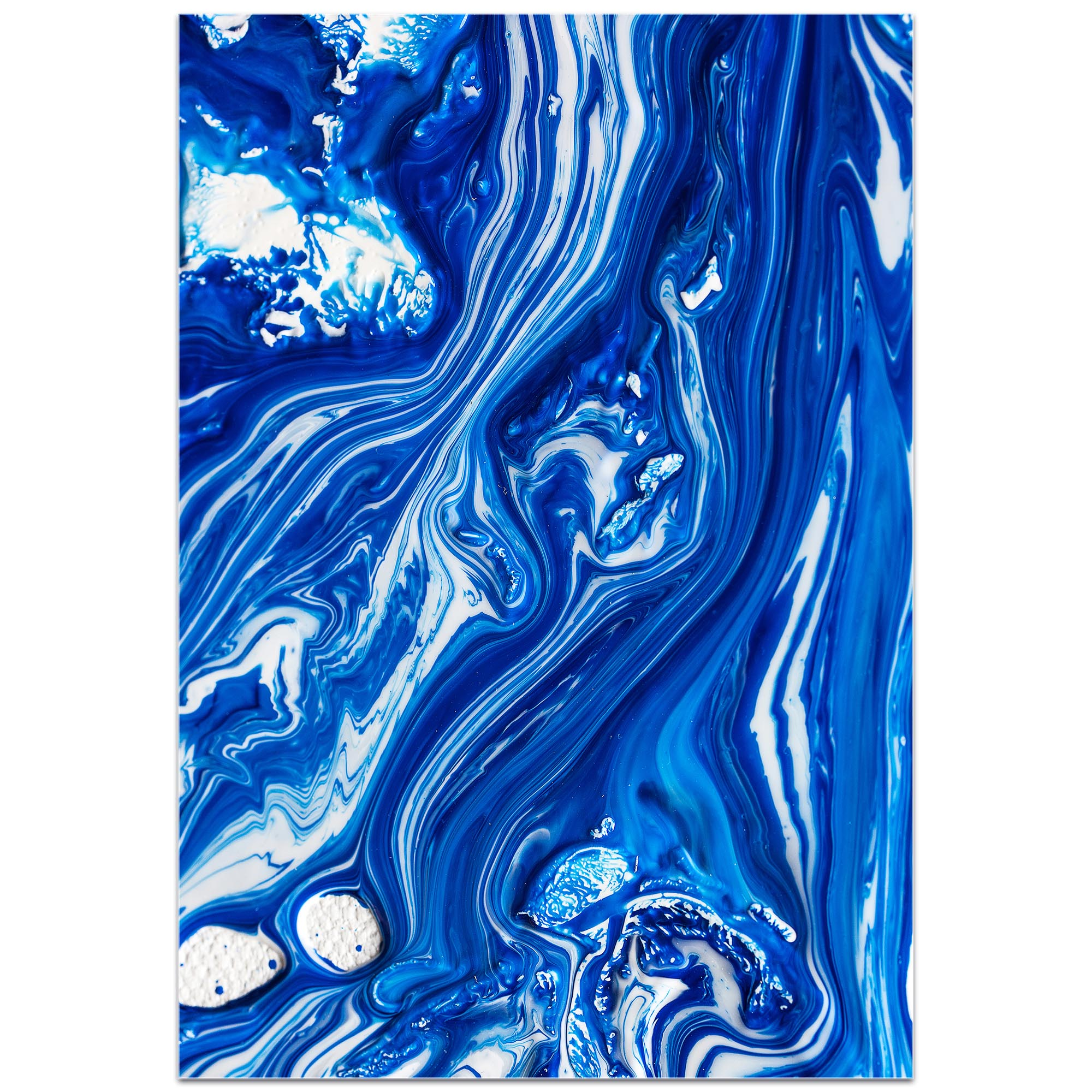 Abstract Wall Art 'Coastal Waters 6' - Colorful Urban Decor on Metal or Plexiglass - Image 2