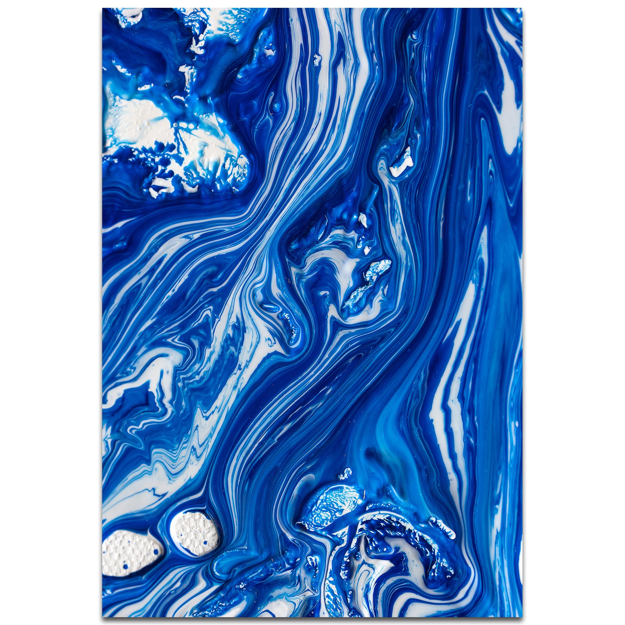 Abstract Wall Art 'Coastal Waters 6' - Colorful Urban Decor on Metal or Plexiglass
