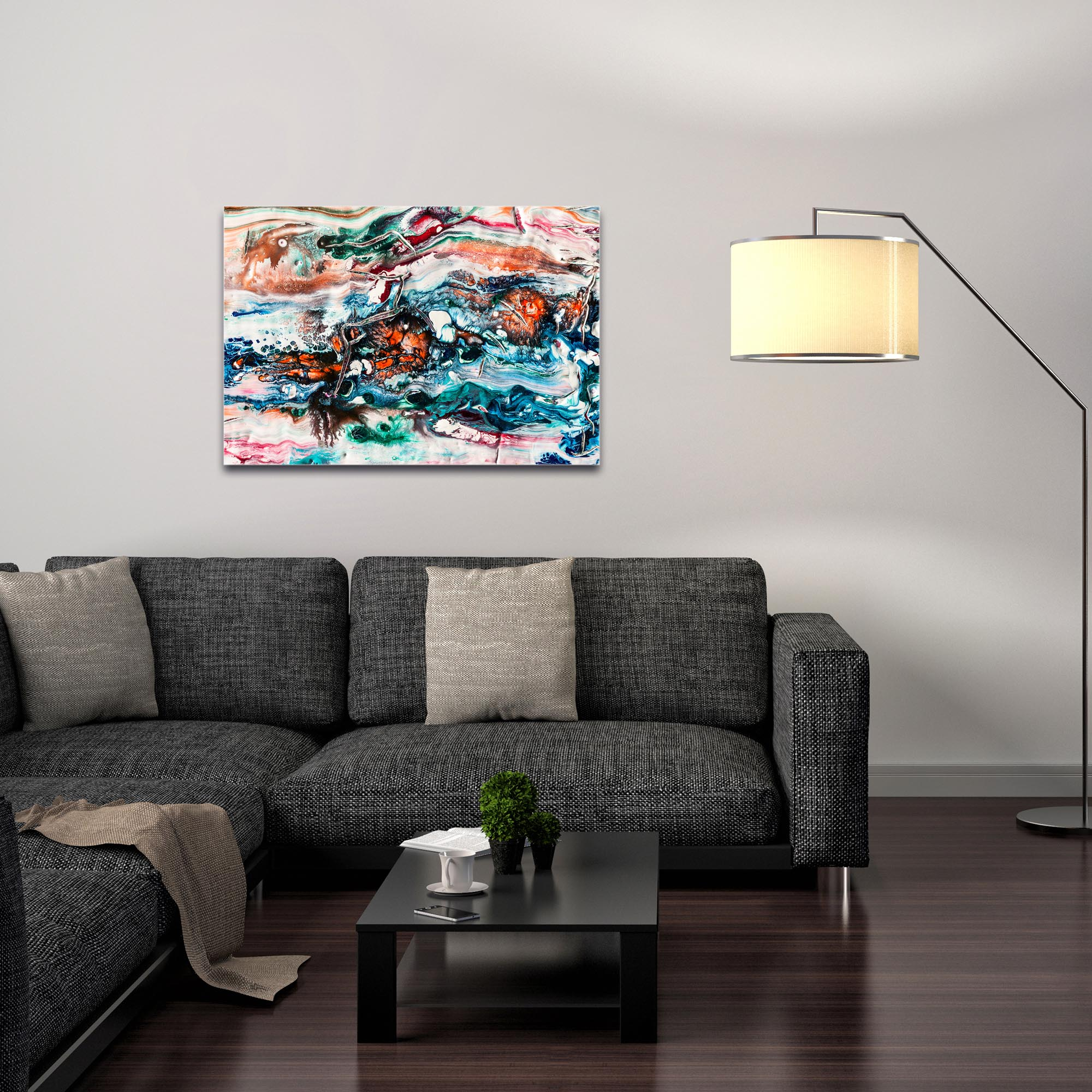 Abstract Wall Art 'Sunset On Her Breath 2' - Colorful Urban Decor on Metal or Plexiglass - Image 3