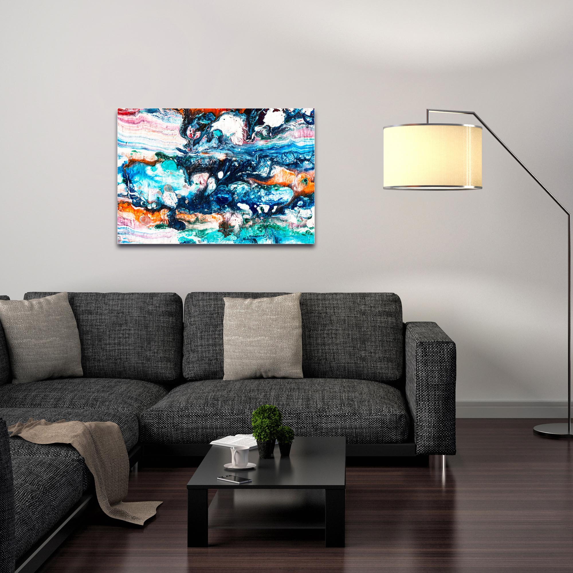 Abstract Wall Art 'Sunset On Her Breath 4' - Colorful Urban Decor on Metal or Plexiglass - Image 3