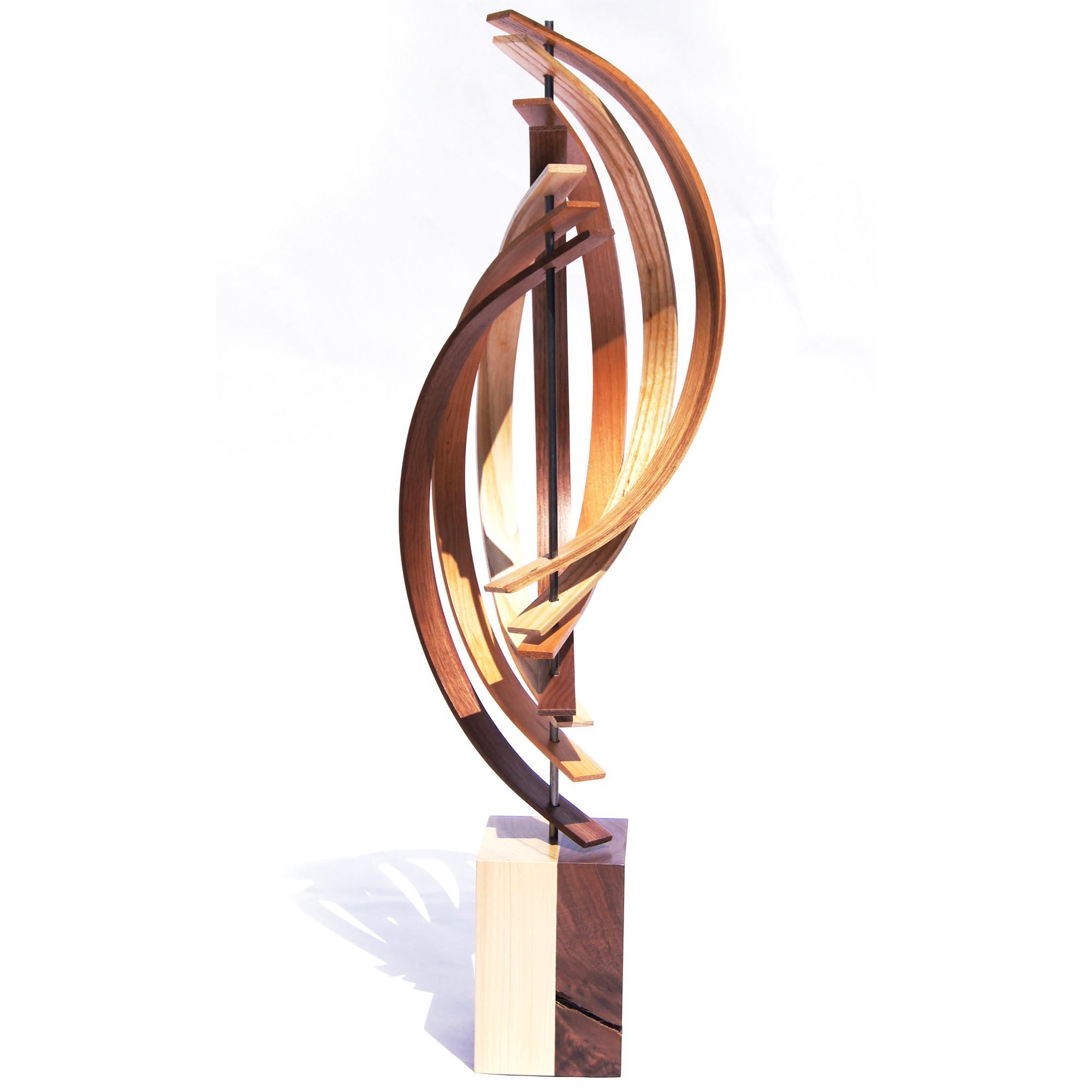 The Climb by Jeff Linenkugel - Modern Wood Sculpture on Natural Wood - Image 2
