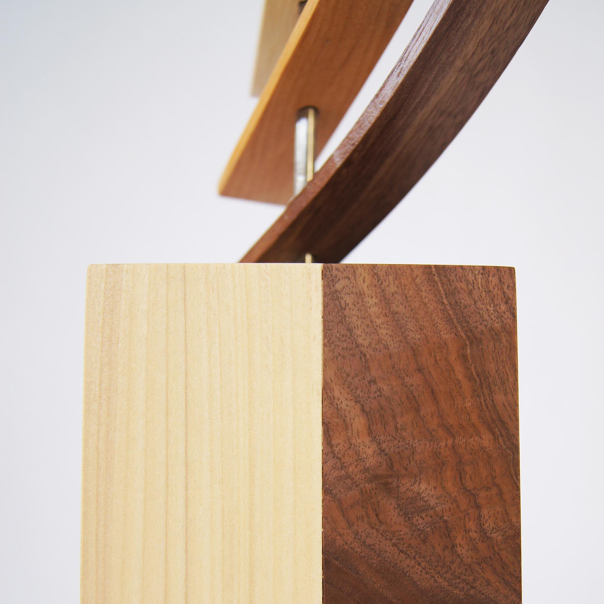 The Climb by Jeff Linenkugel - Modern Wood Sculpture on Natural Wood - Image 3