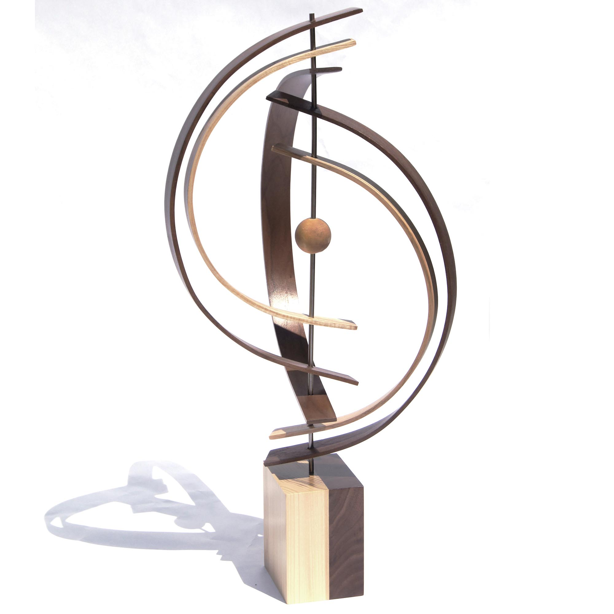 In Orbit by Jeff Linenkugel - Modern Wood Sculpture on Natural Wood - Image 2