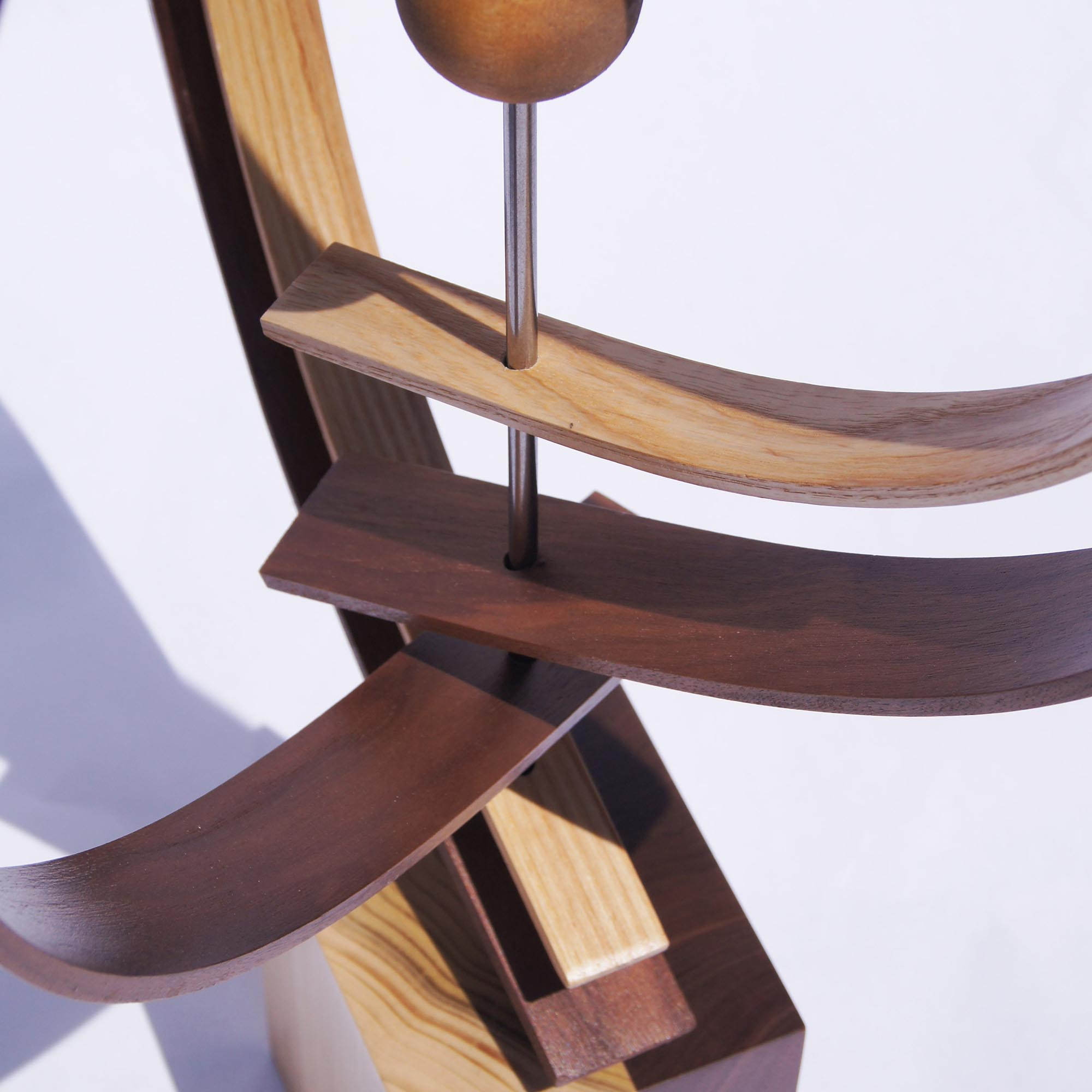 In Orbit by Jeff Linenkugel - Modern Wood Sculpture on Natural Wood - Image 3