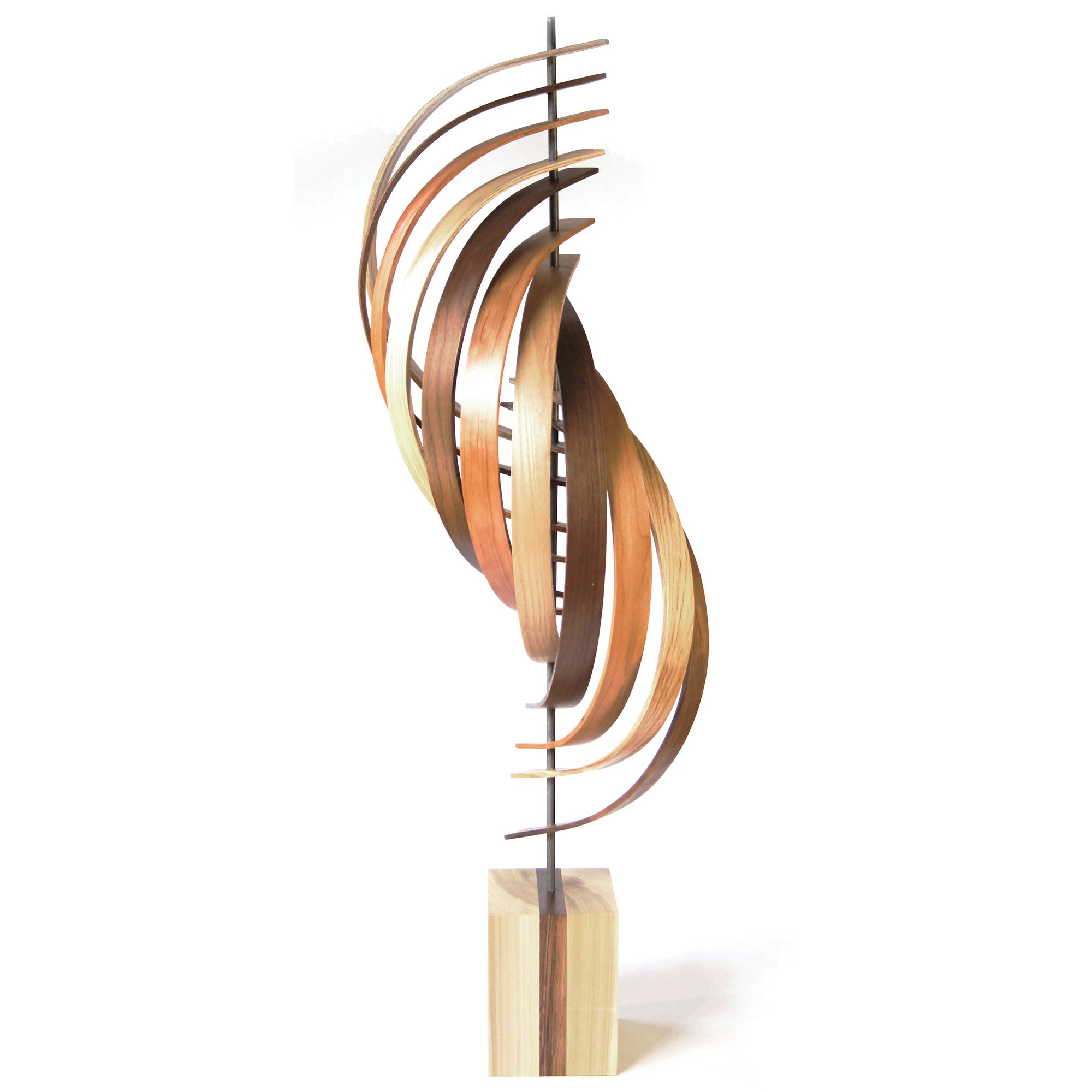 Ascension by Jeff Linenkugel - Modern Wood Sculpture on Natural Wood - Image 2