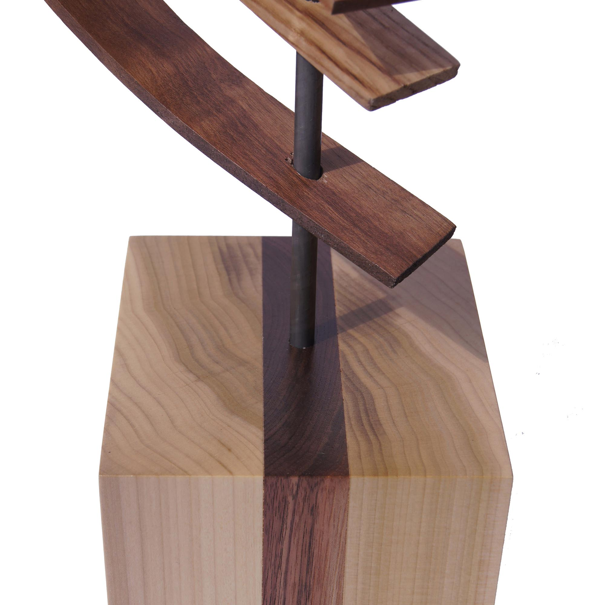 Ascension by Jeff Linenkugel - Modern Wood Sculpture on Natural Wood - Image 3