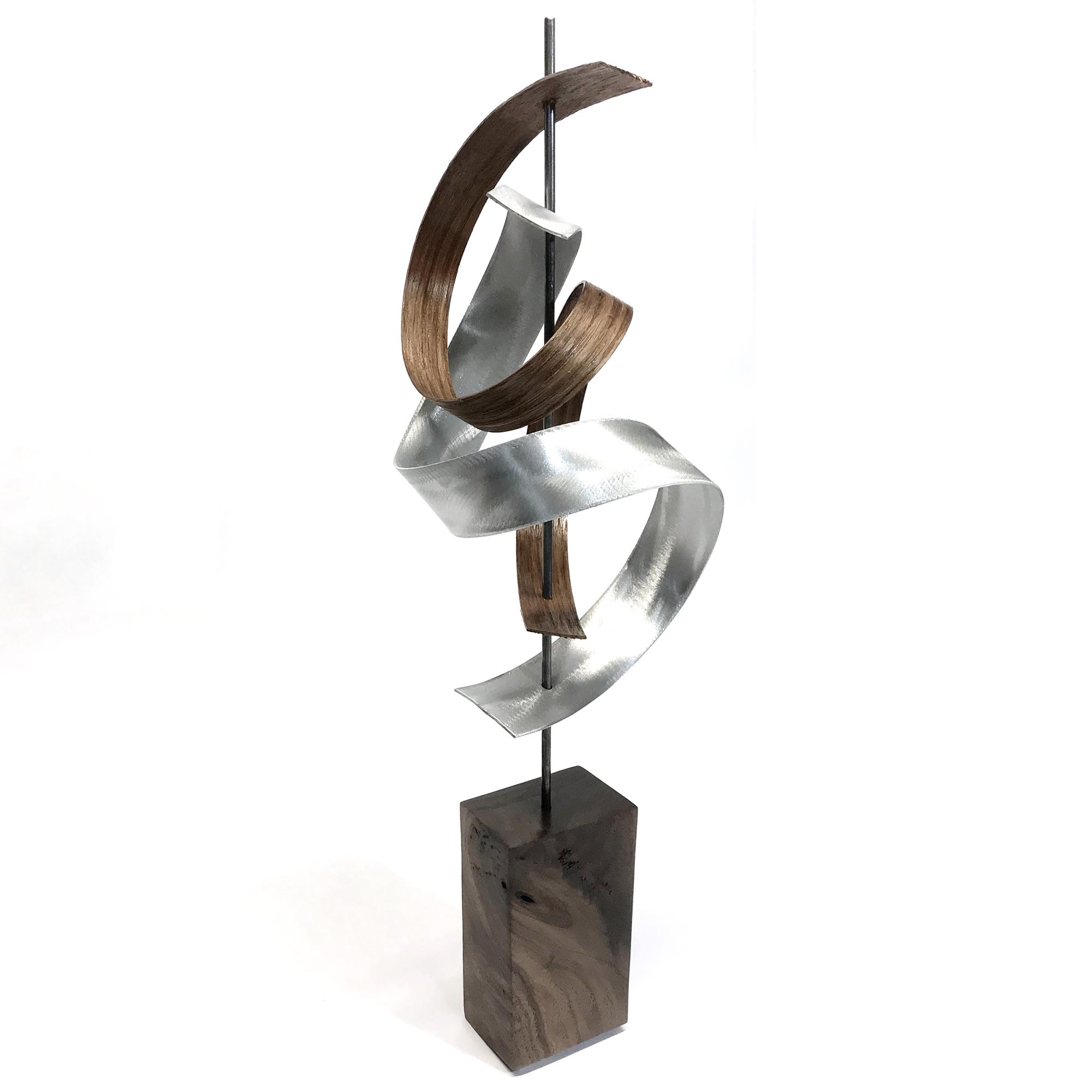 Jackson Wright 'Waltz' 6in x 20in Contemporary Style Modern Wood Sculpture