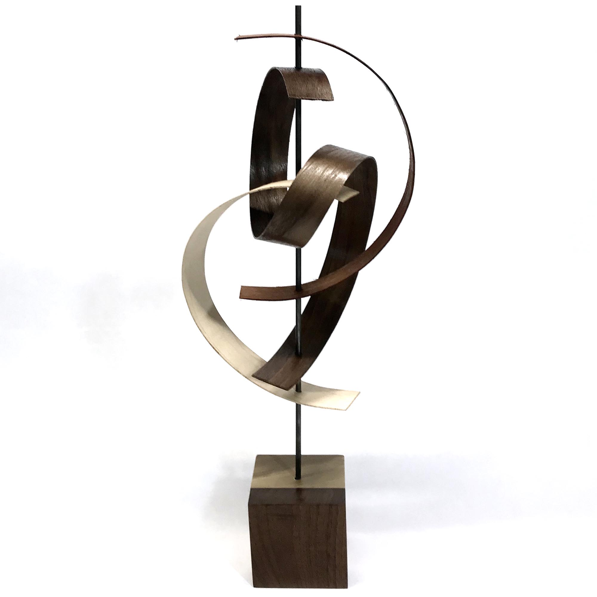 Swing by Jackson Wright - Modern Wood Sculpture, Mid-Century Home Decor - Image 2