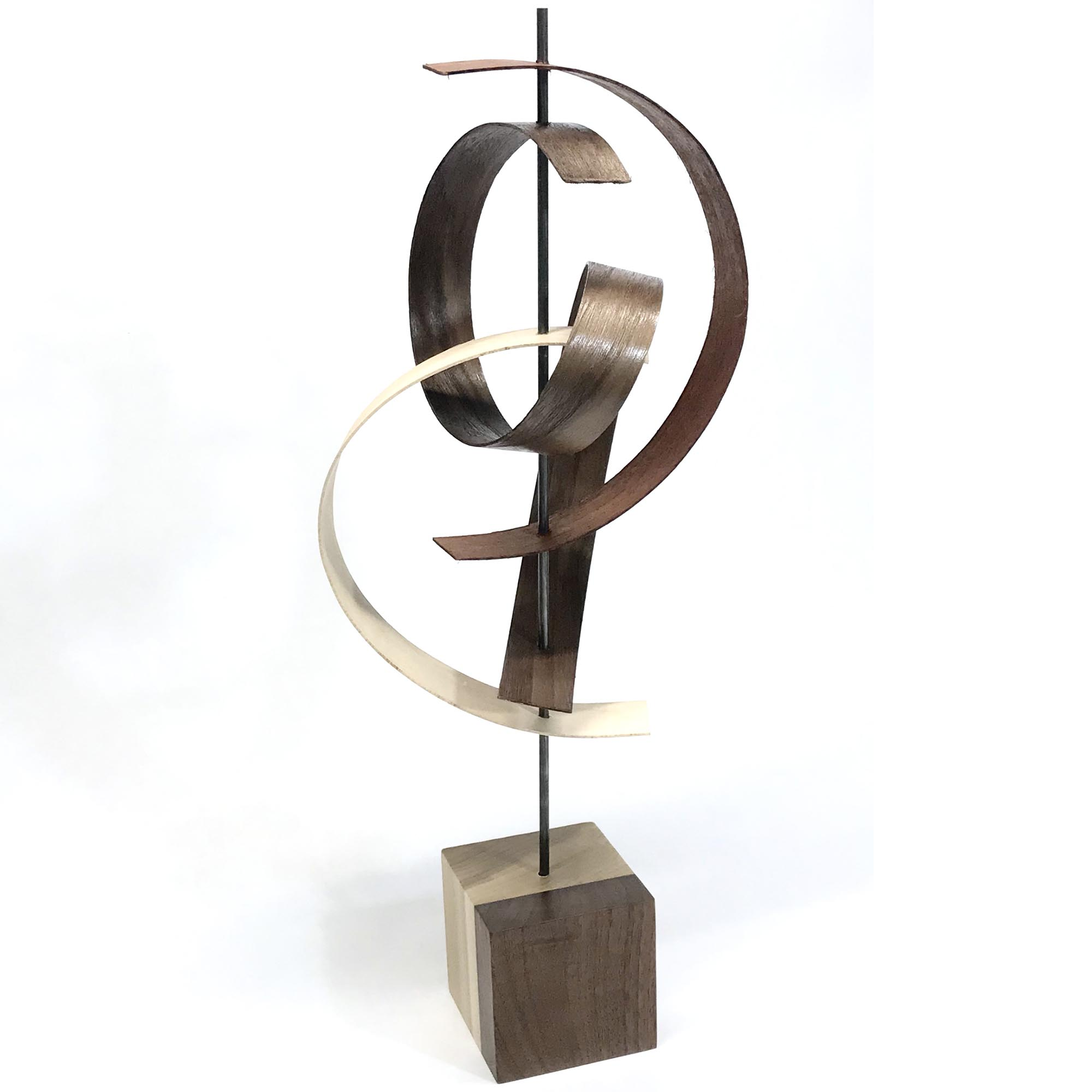 Swing by Jackson Wright - Modern Wood Sculpture, Mid-Century Home Decor - Image 3