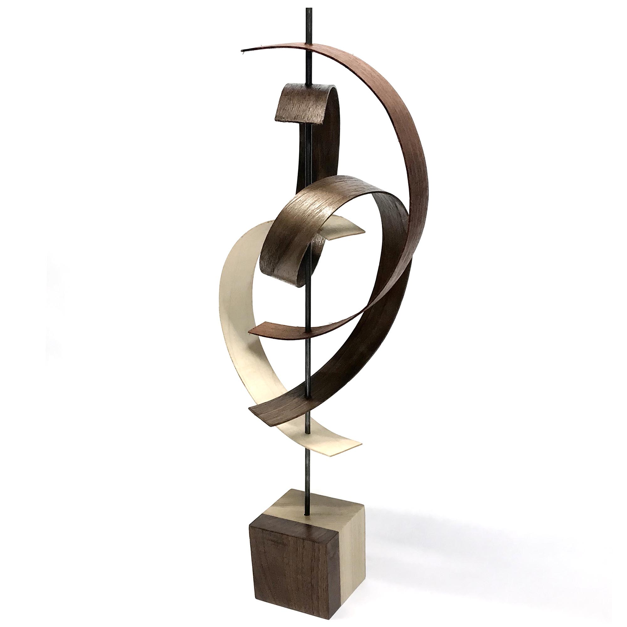 Jackson Wright 'Swing' 8in x 19in Contemporary Style Modern Wood Sculpture