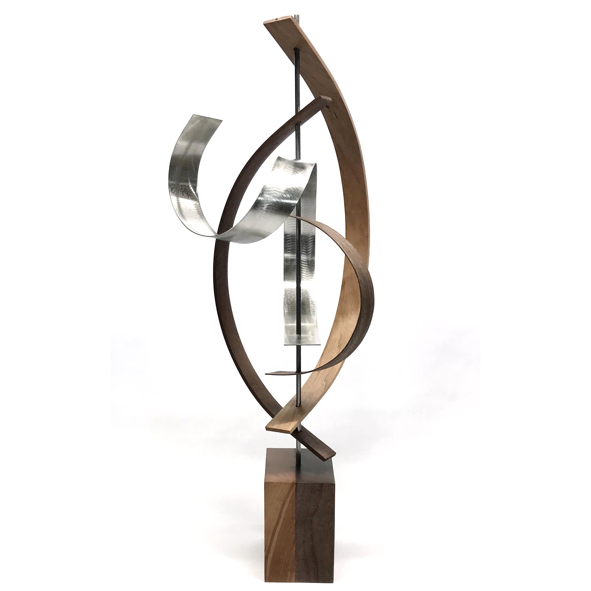 Lift by Jackson Wright - Modern Wood Sculpture, Mid-Century Home Decor - Image 2