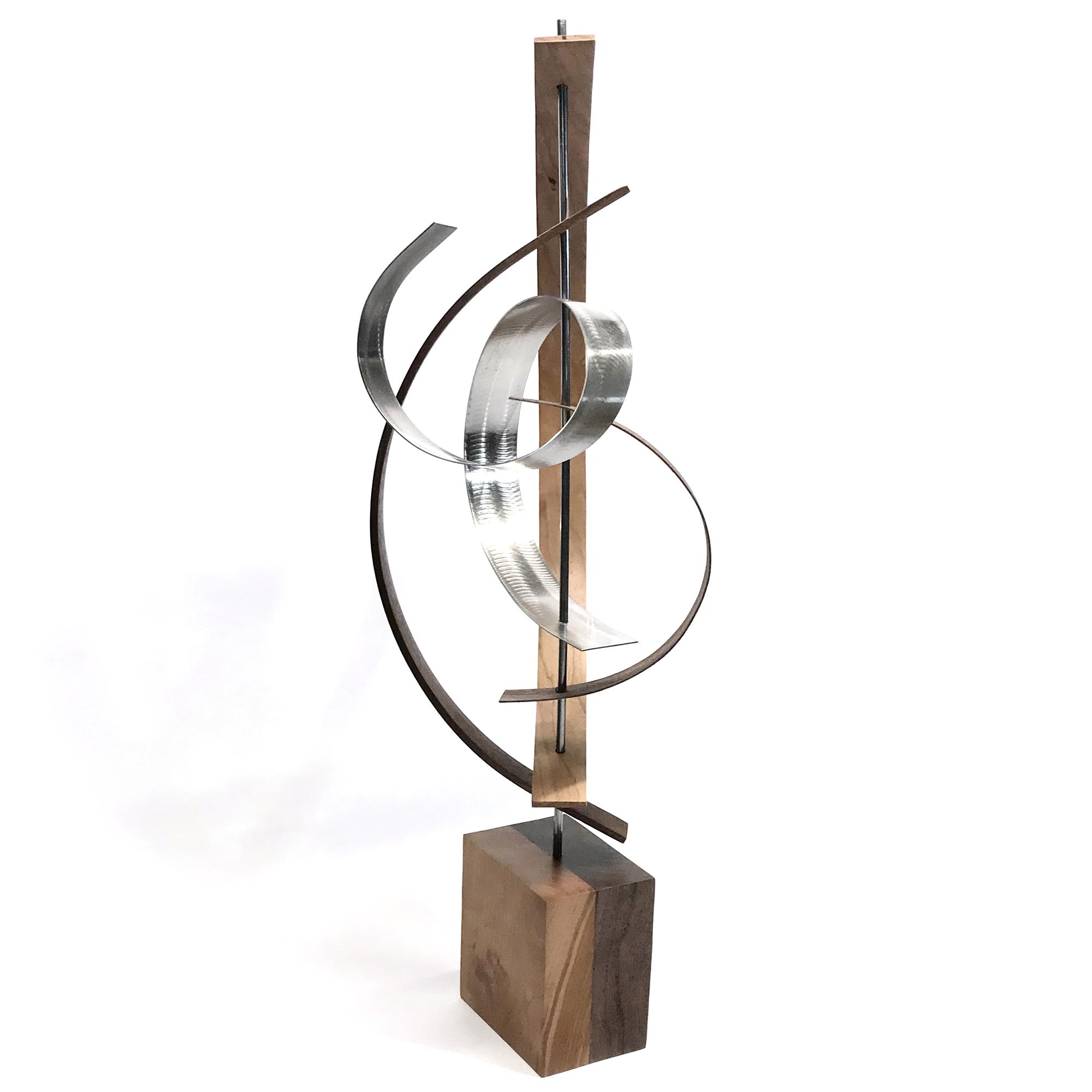Lift by Jackson Wright - Modern Wood Sculpture, Mid-Century Home Decor - Image 3