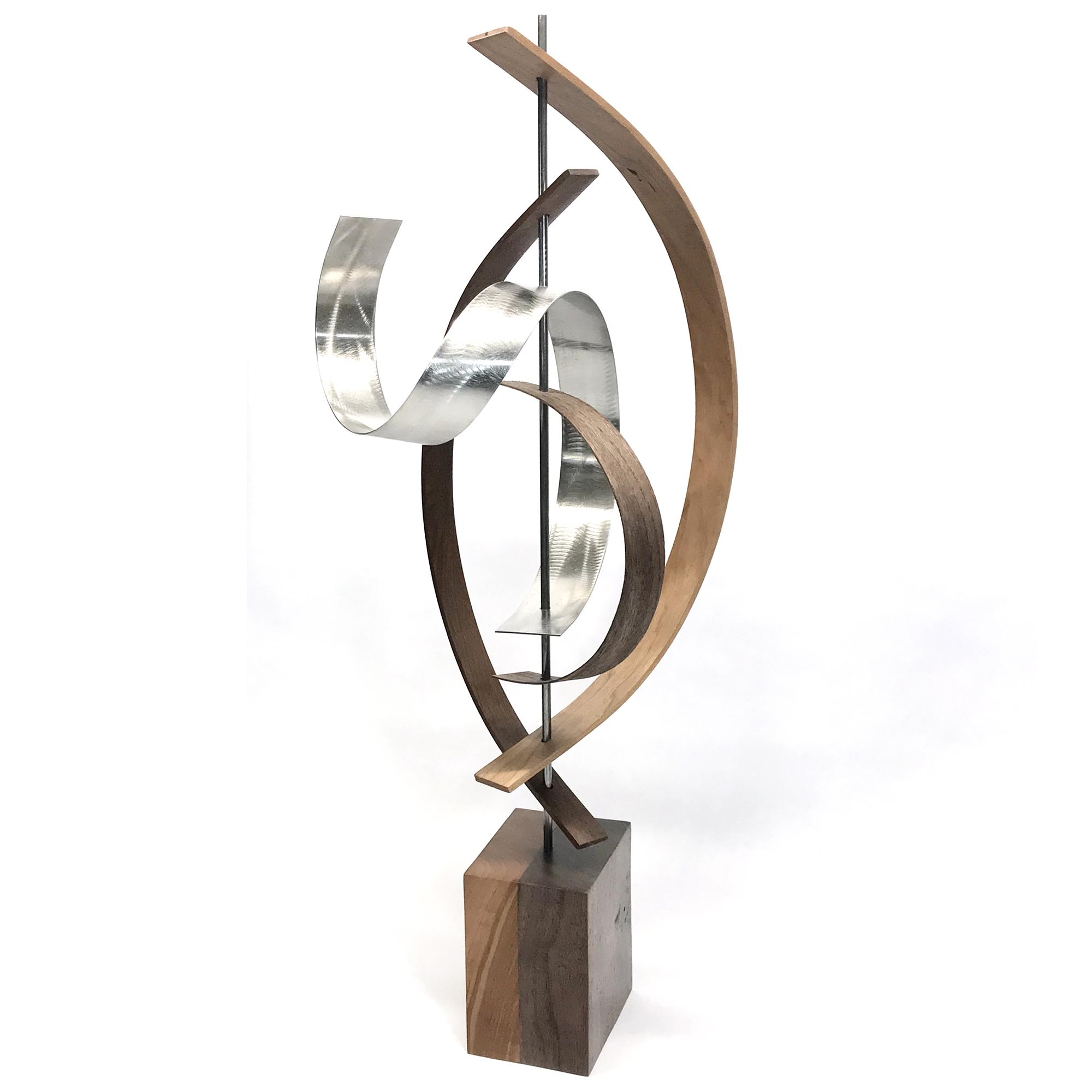 Jackson Wright 'Lift' 10in x 29in Contemporary Style Modern Wood Sculpture