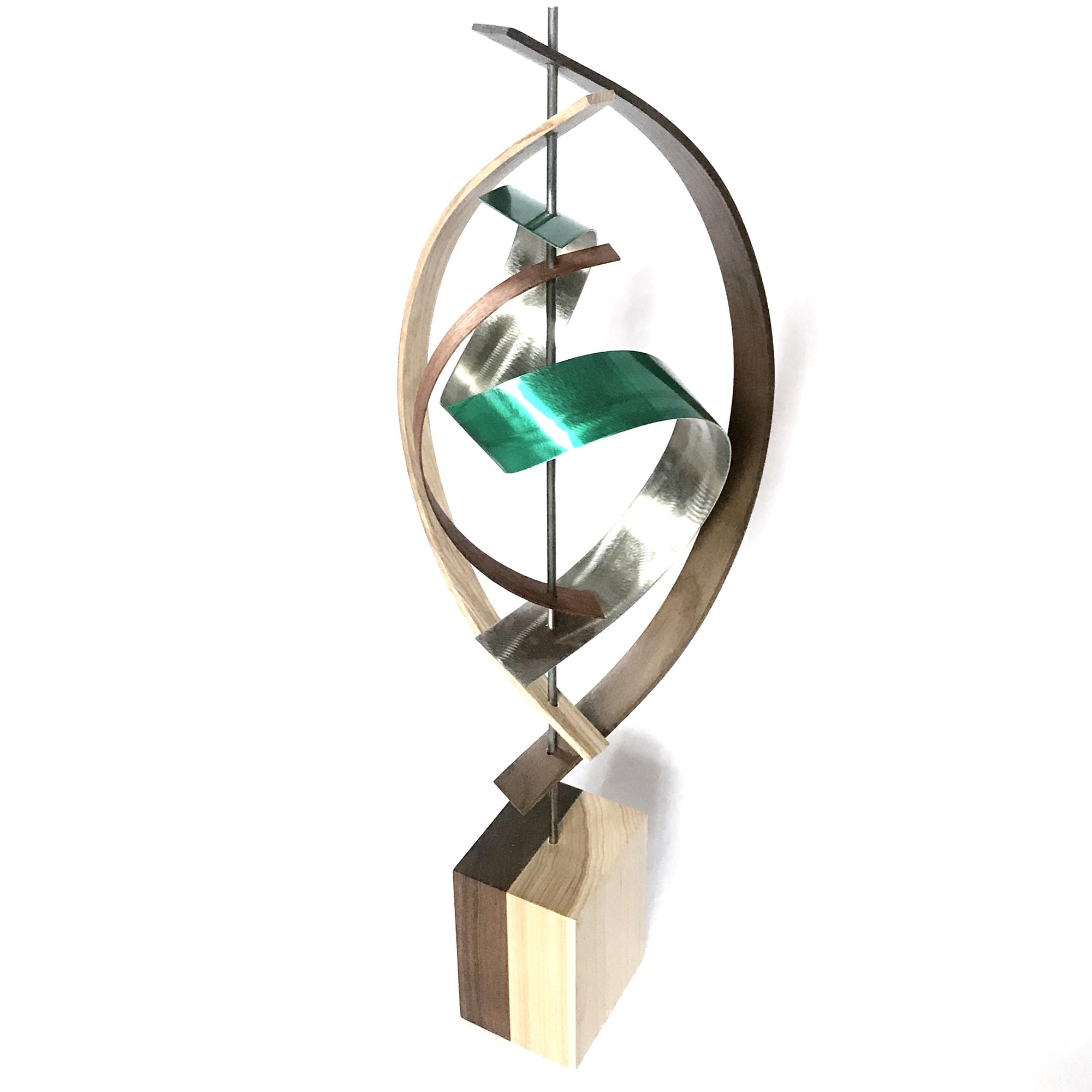 Tranquil by Jackson Wright - Modern Wood Sculpture, Mid-Century Home Decor - Image 3