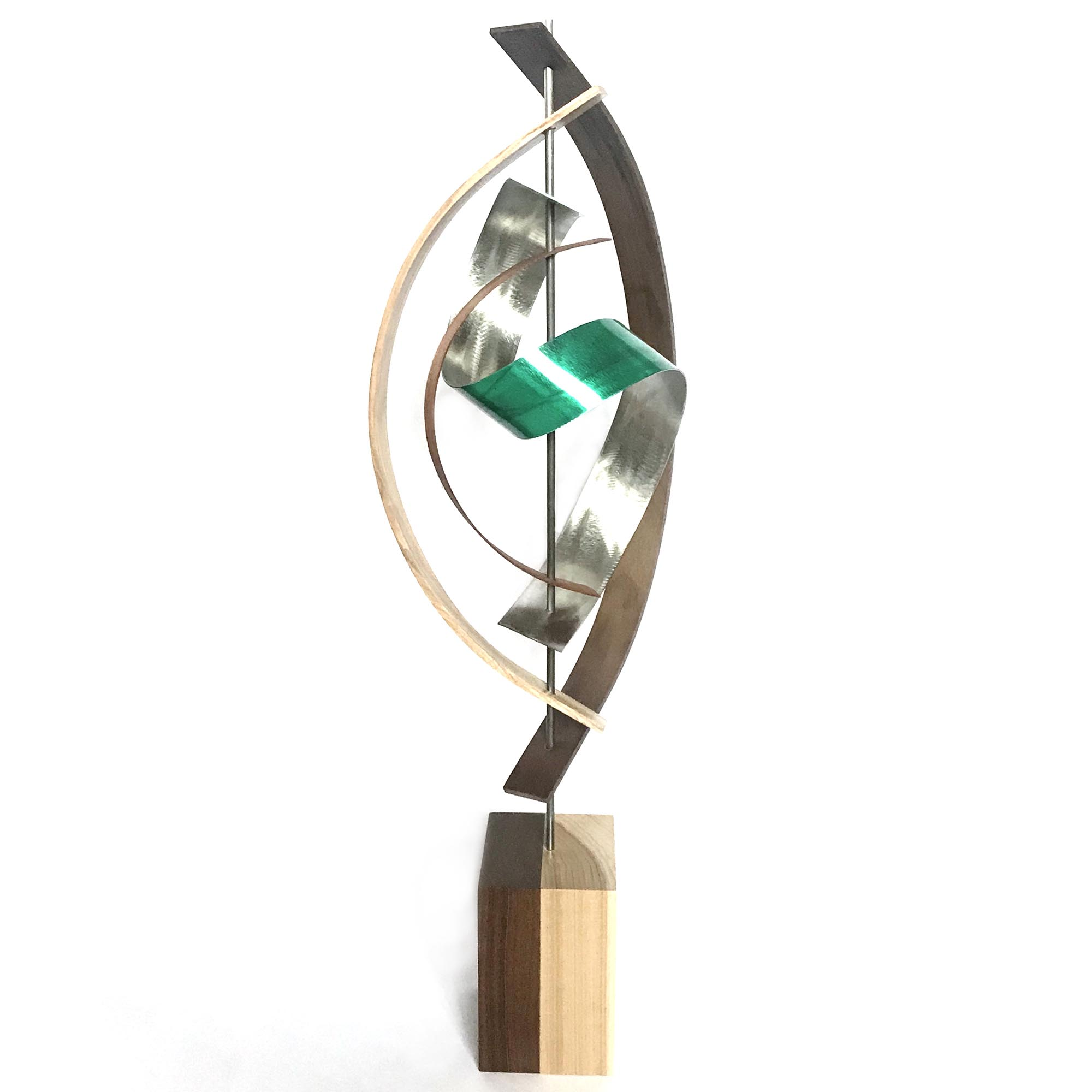Jackson Wright 'Tranquil' 10in x 29in Contemporary Style Modern Wood Sculpture