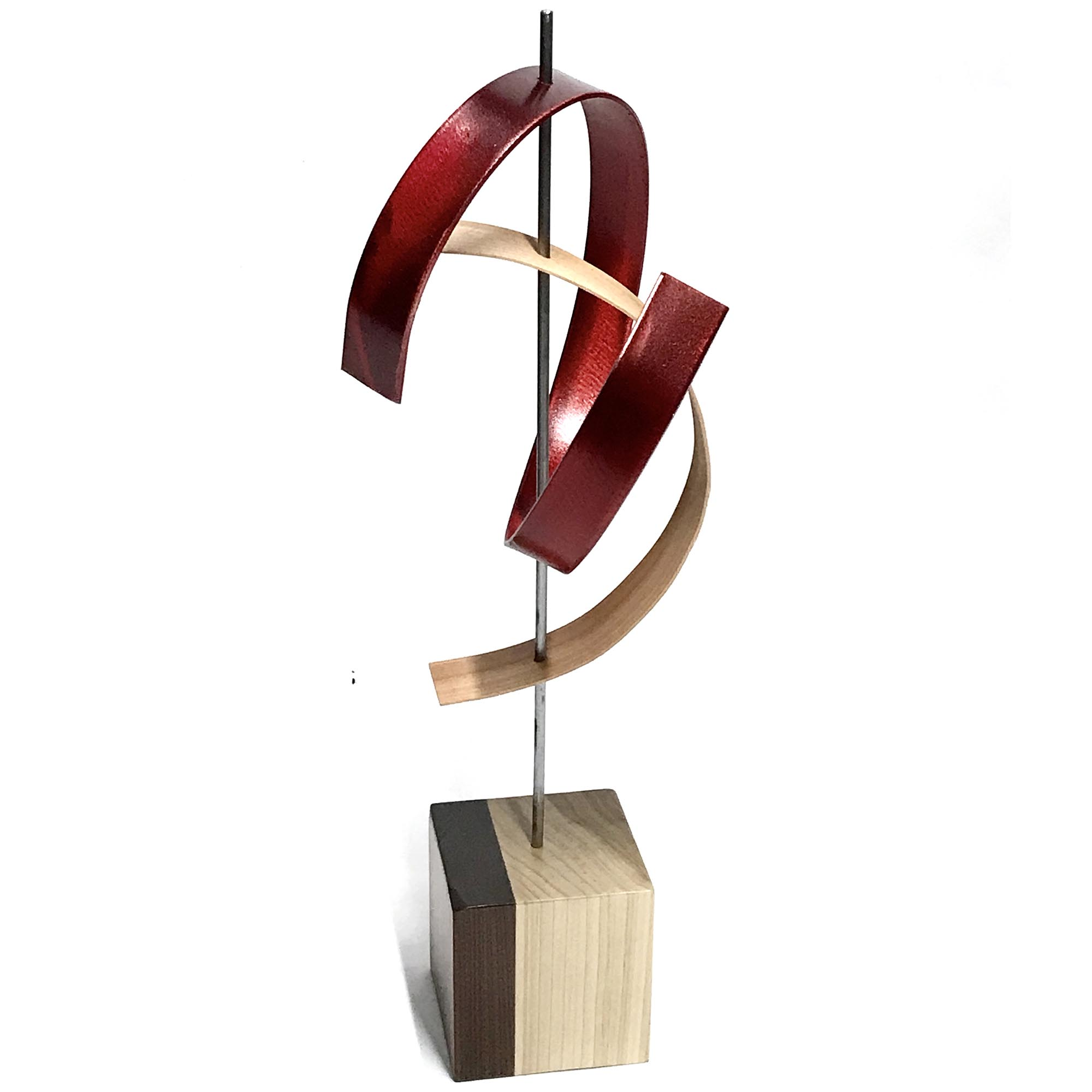 Kiss by Jackson Wright - Modern Wood Sculpture, Mid-Century Home Decor - Image 2