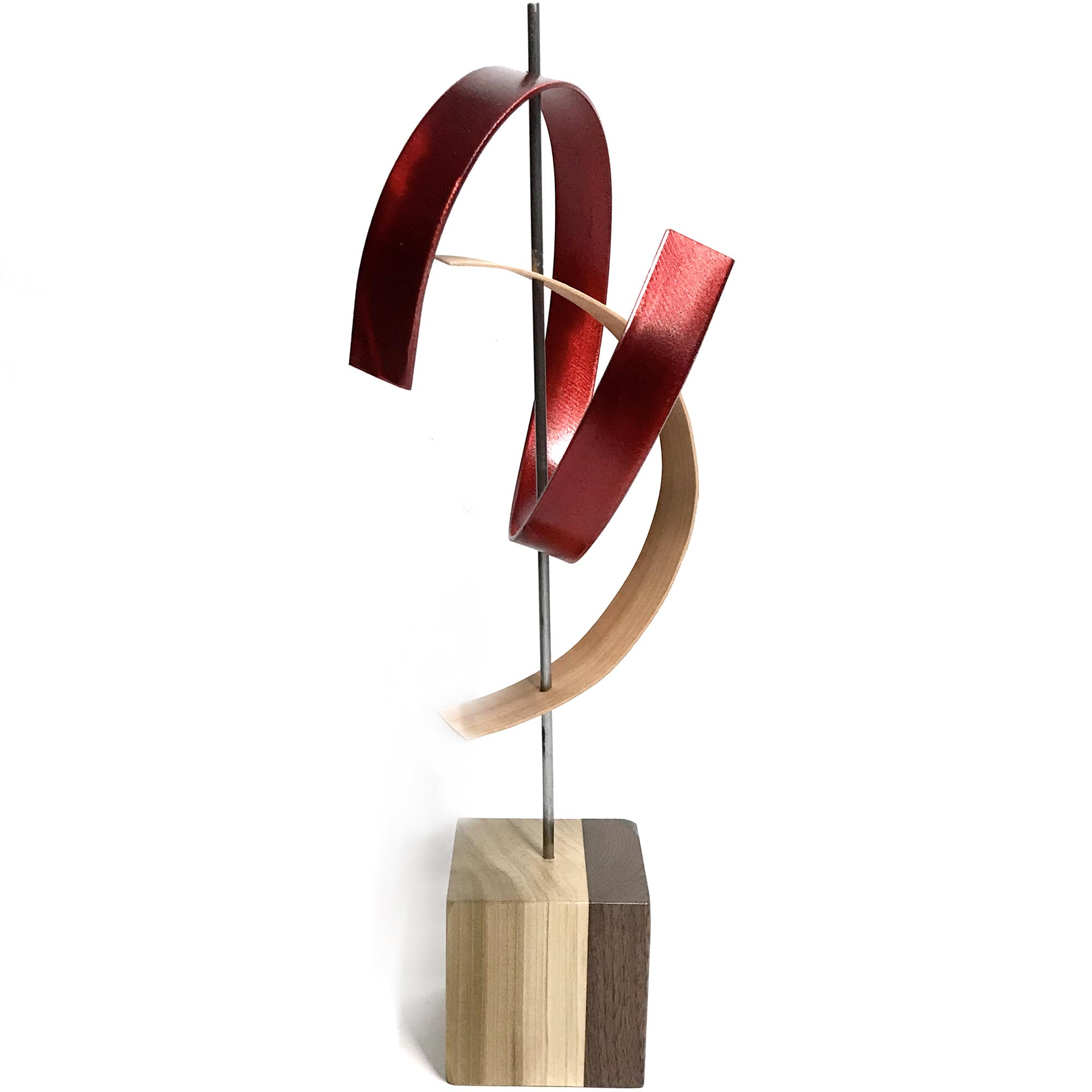 Kiss by Jackson Wright - Modern Wood Sculpture, Mid-Century Home Decor - Image 3