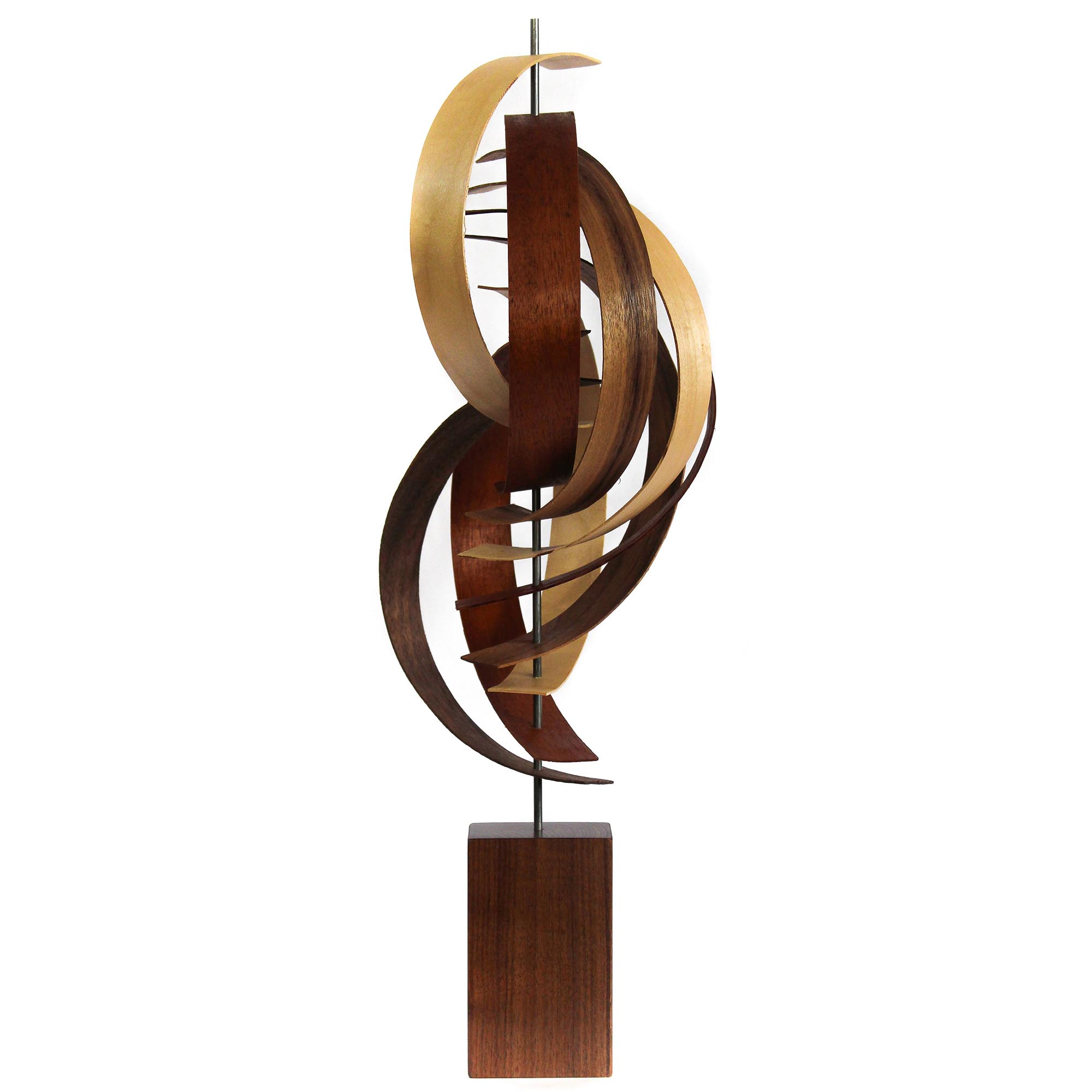 Jackson Wright 'Reach' 9in x 23in Contemporary Style Modern Wood Sculpture
