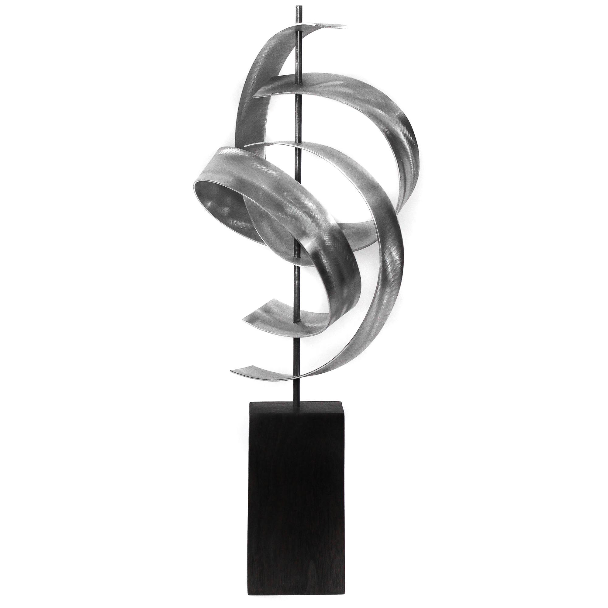 Jackson Wright 'Twist' 8in x 17in Contemporary Style Modern Metal Sculpture