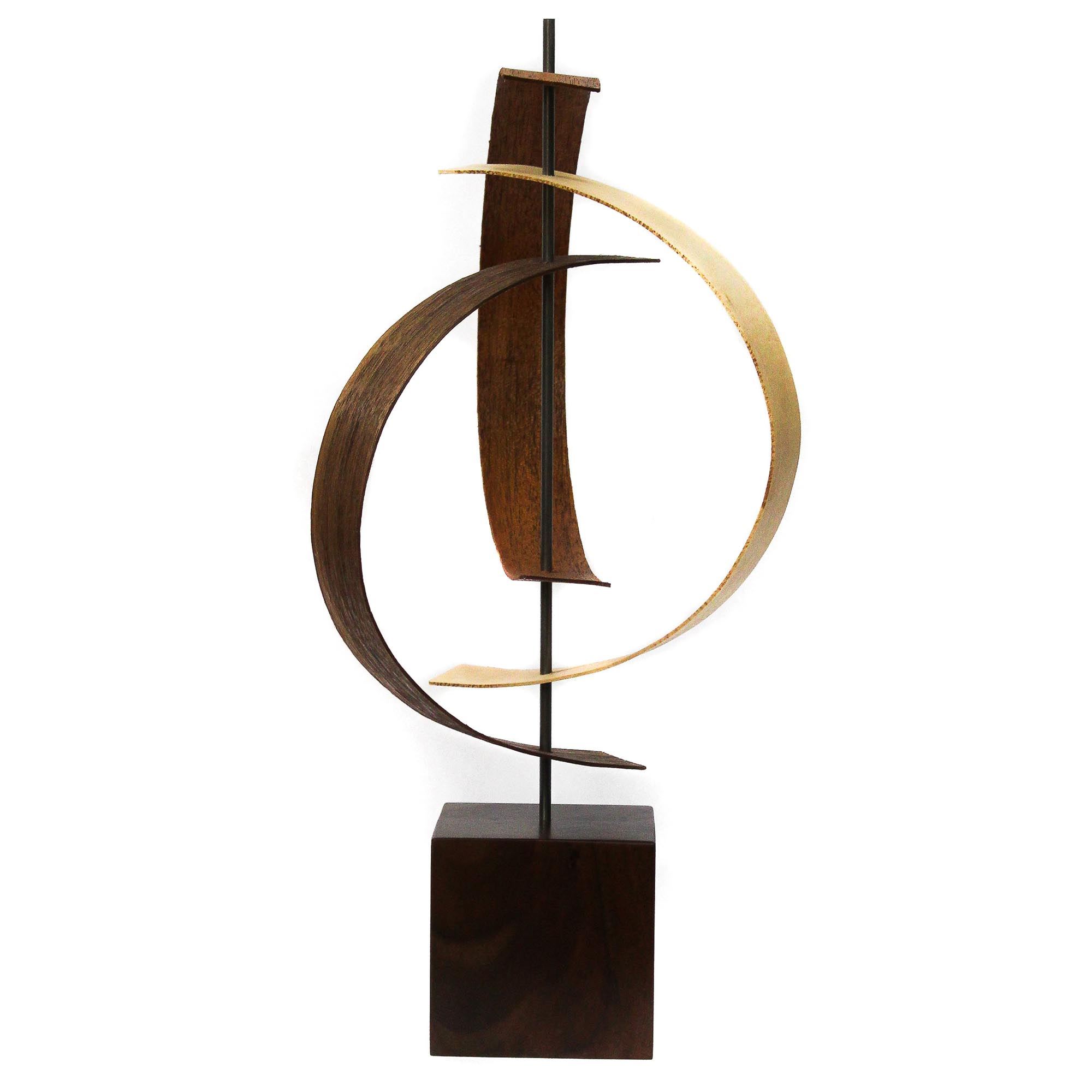 Jackson Wright 'Origin' 8in x 16in Contemporary Style Modern Wood Sculpture