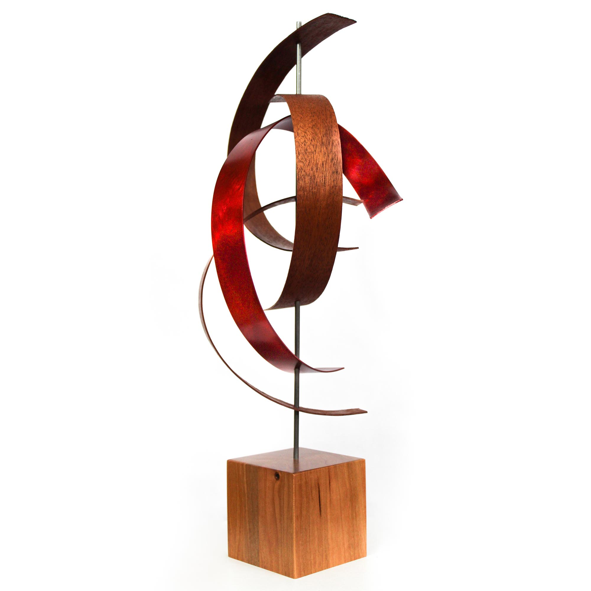 Jackson Wright 'Wind' 10in x 20in Contemporary Style Modern Wood Sculpture