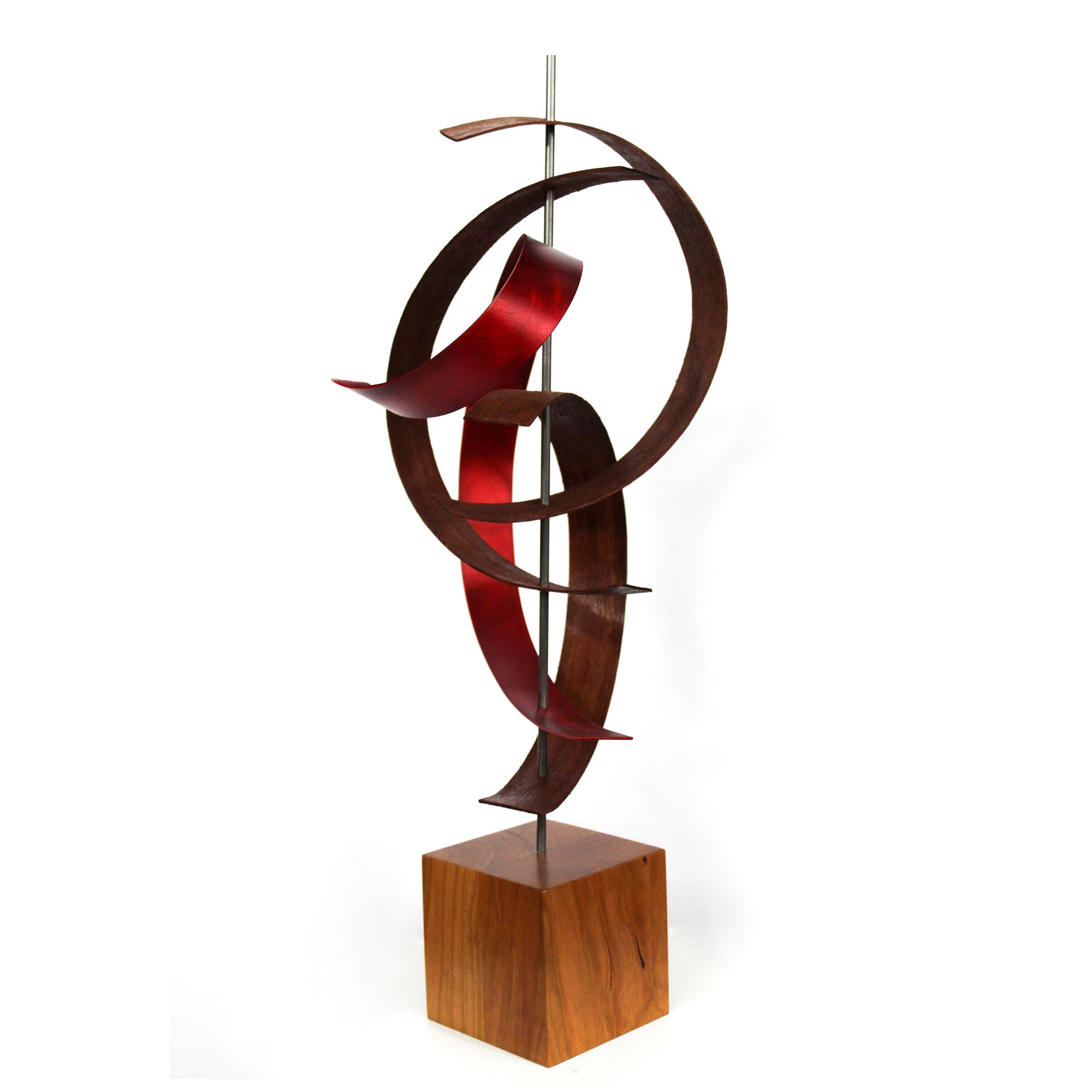 Wind by Jackson Wright - Modern Wood Sculpture, Mid-Century Home Decor - Image 2
