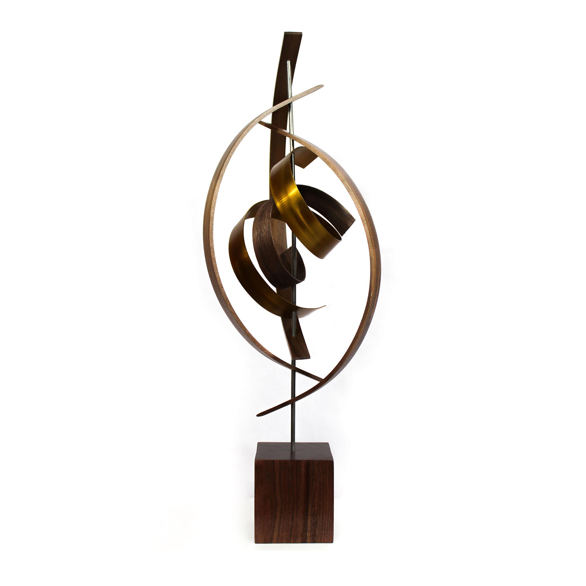 Spiral by Jackson Wright - Modern Wood Sculpture, Mid-Century Home Decor - Image 3