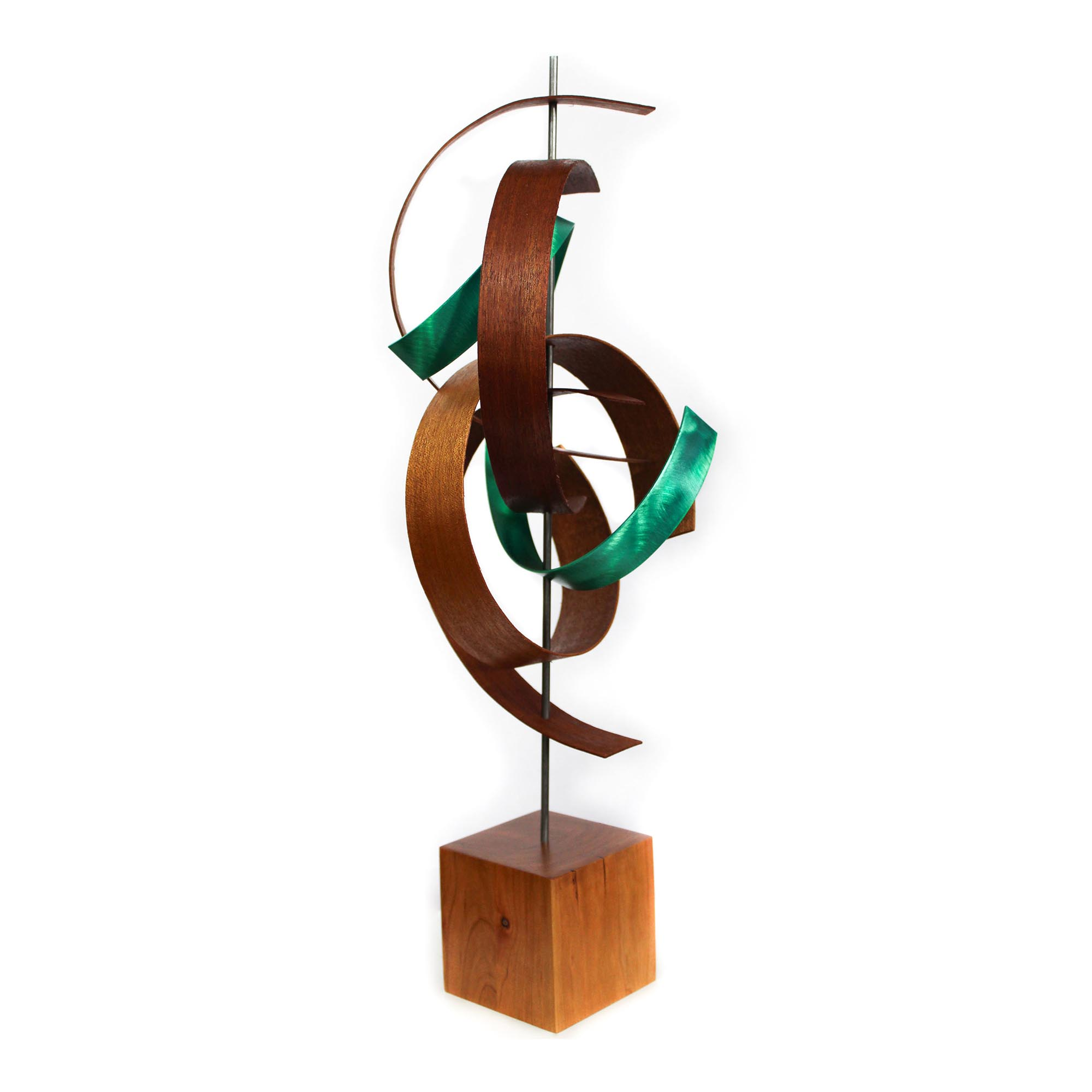 Intertwine by Jackson Wright - Modern Wood Sculpture, Mid-Century Home Decor - Image 2